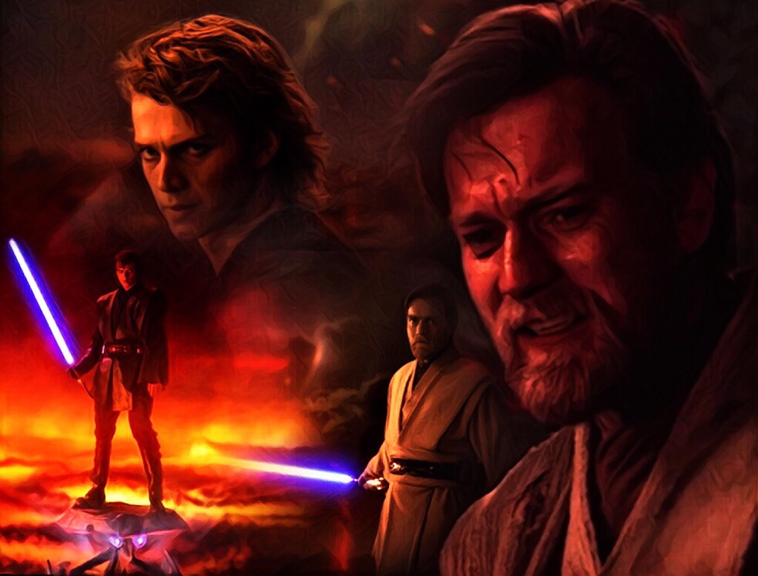 … Obi-Wan VS Darth Vader Wallpaper by Drum-Solo-1986