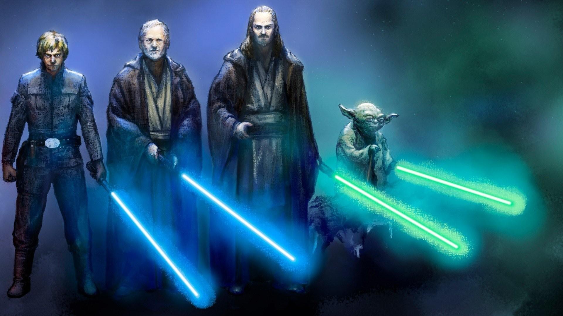 star wars jedi yoda luke skywalker obi wan kenobi qui gon jinn