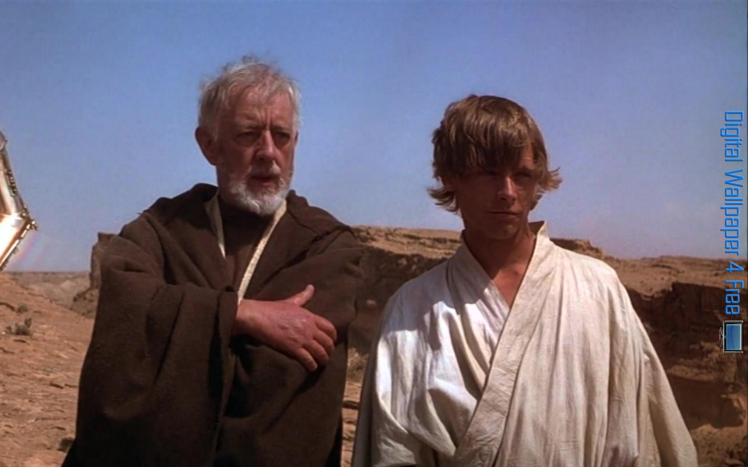 Star Wars Episode 4 Obi Wan Kenobi And Luke Skywalker 002 – Digital  Wallpaper 4 Free