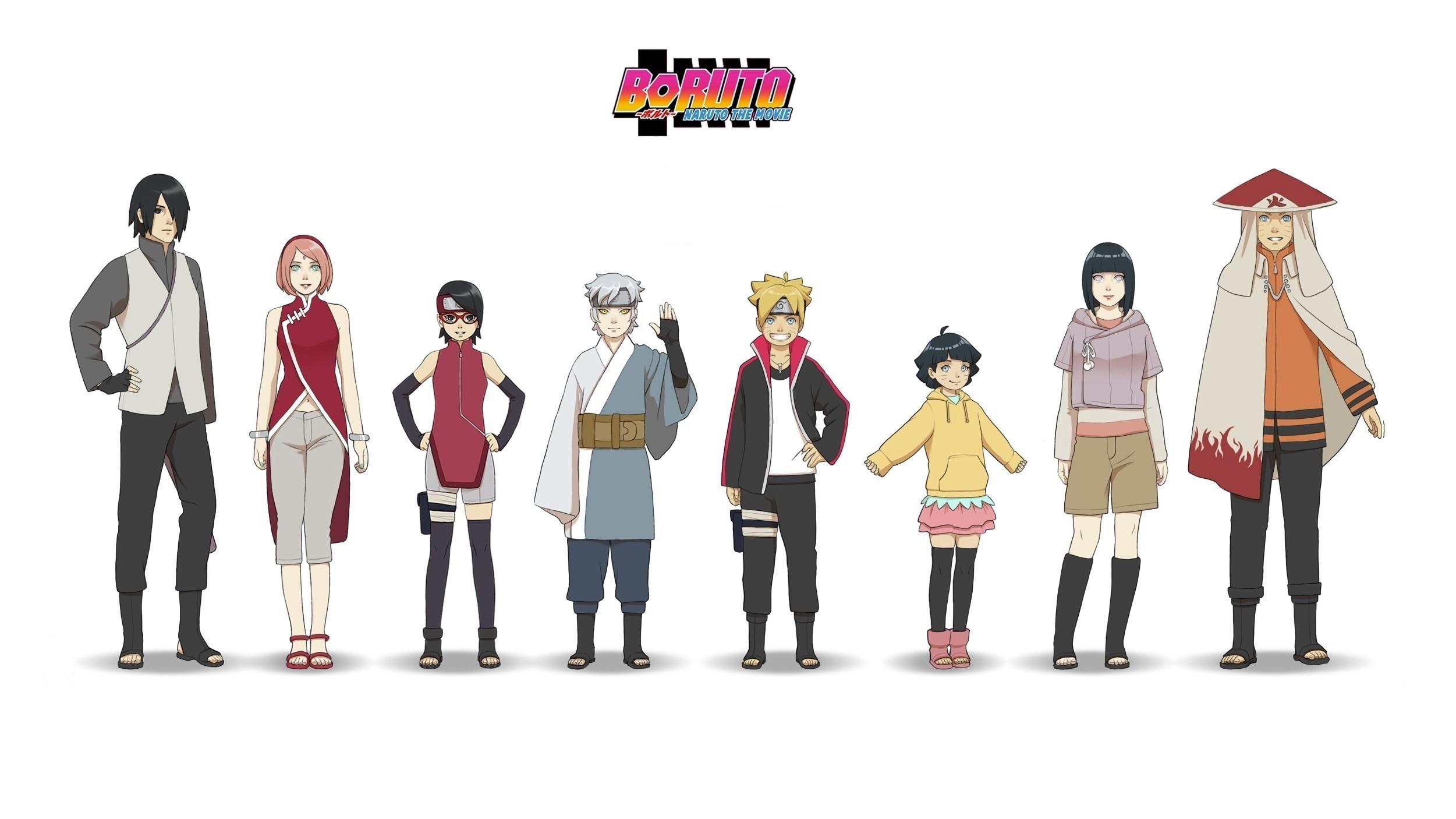 Anime – Boruto: Naruto the Movie Boruto Uzumaki Naruto Naruto Uzumaki  Hinata HyÅ«ga Himawari Uzumaki