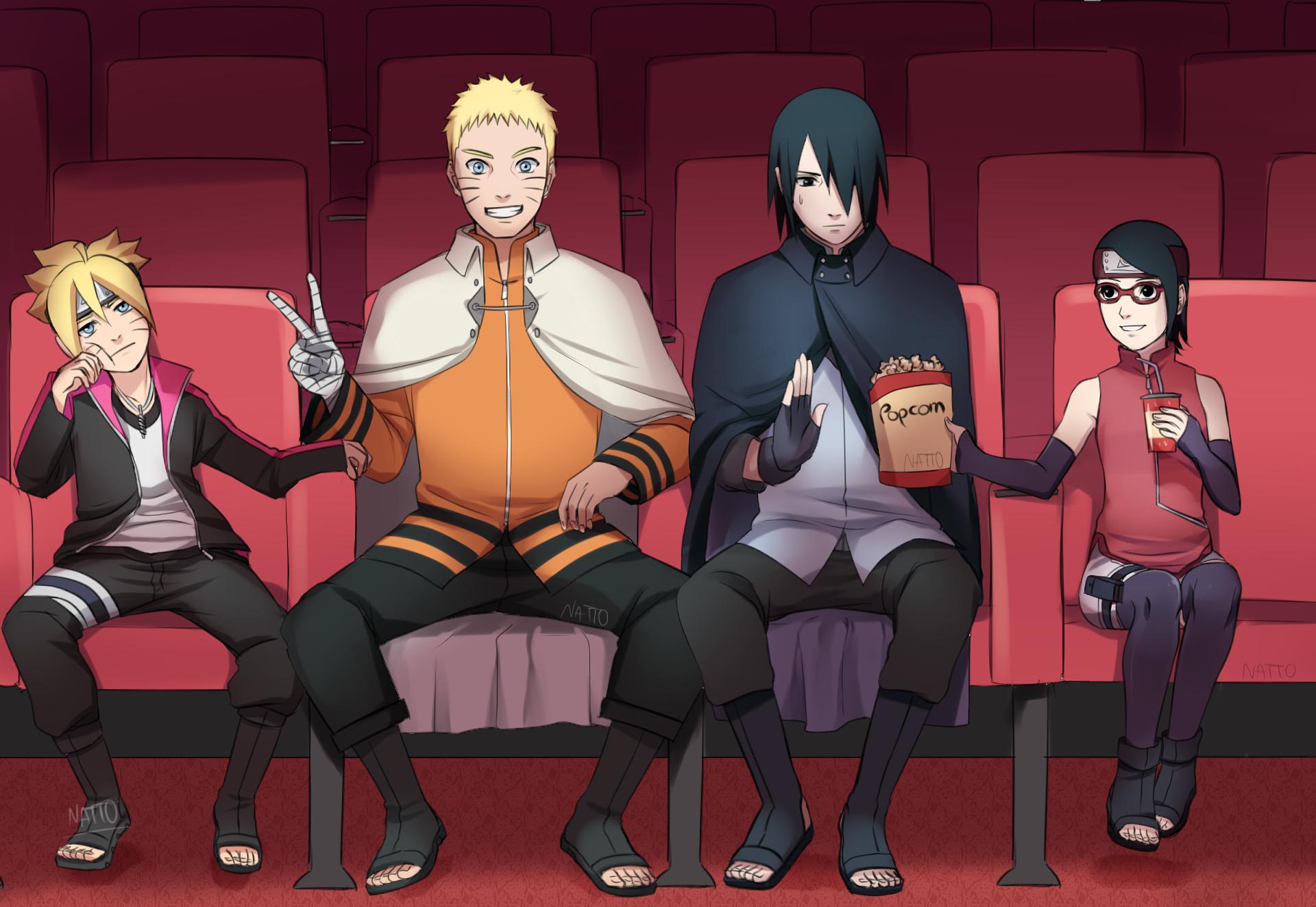 Anime – Boruto Boruto Uzumaki Sarada Uchiha Sasuke Uchiha Naruto Uzumaki  Naruto Wallpaper