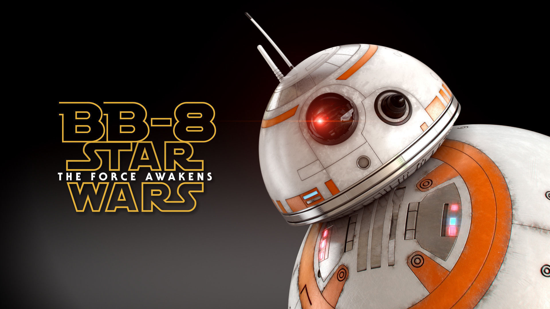 … bb-8 star wars droid full rigged 3d model rigged animated max obj fbx  3dm …