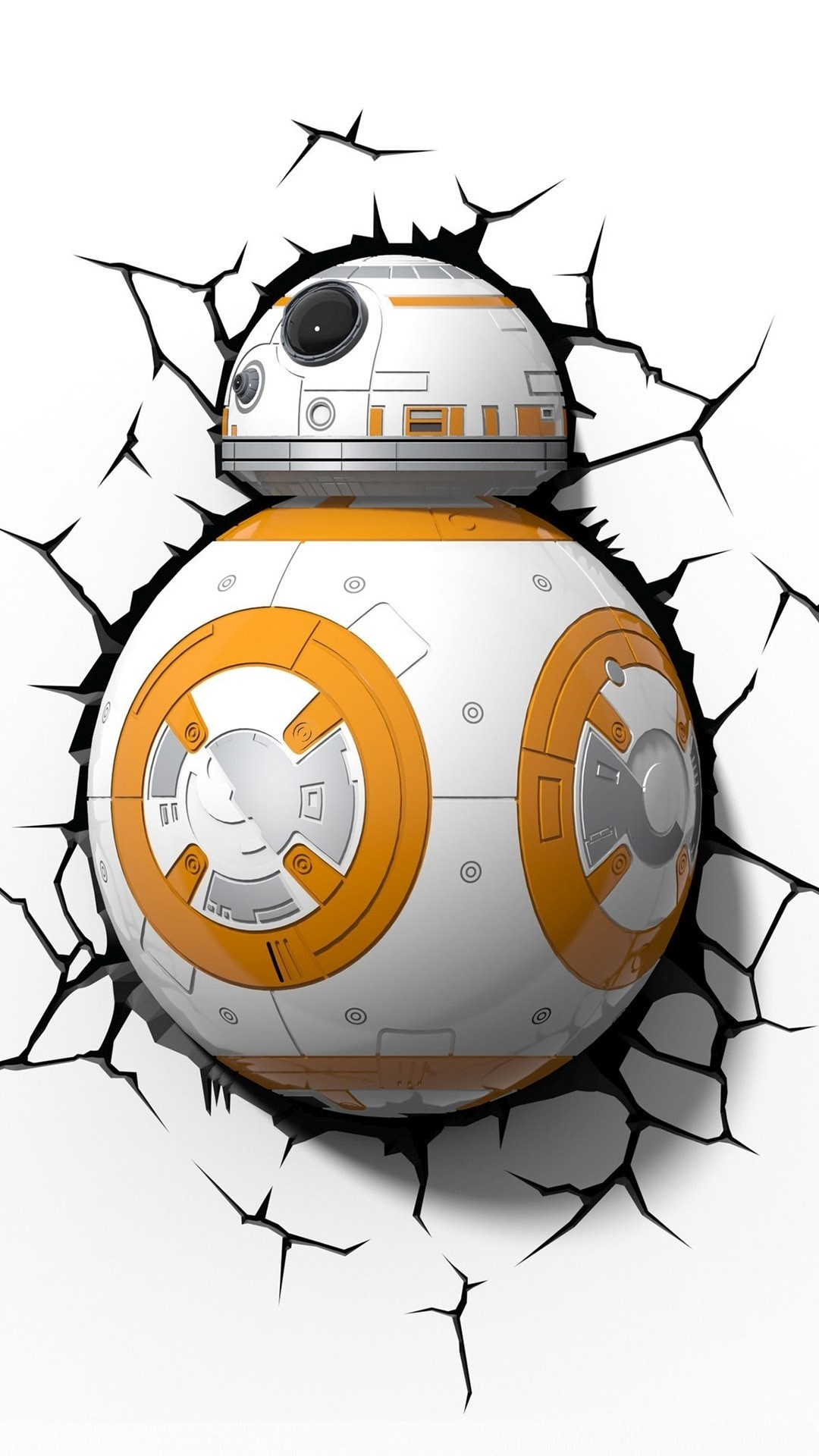 BB-8 in a wall – Star Wars: Episode VII – The Force Awakens Wallpaper
