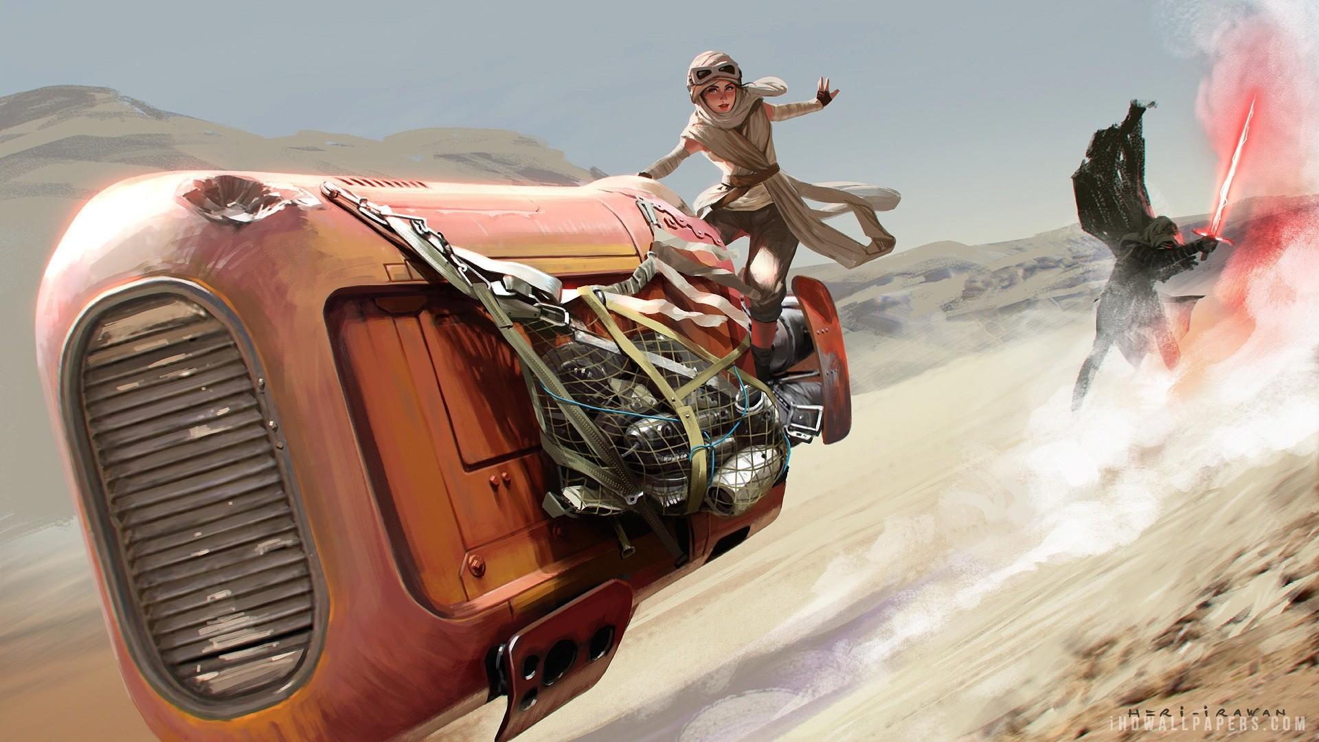 Rey Kylo Ren Star Wars Force Awakens HD Wallpaper – iHD Wallpapers … rey  and bb8 …