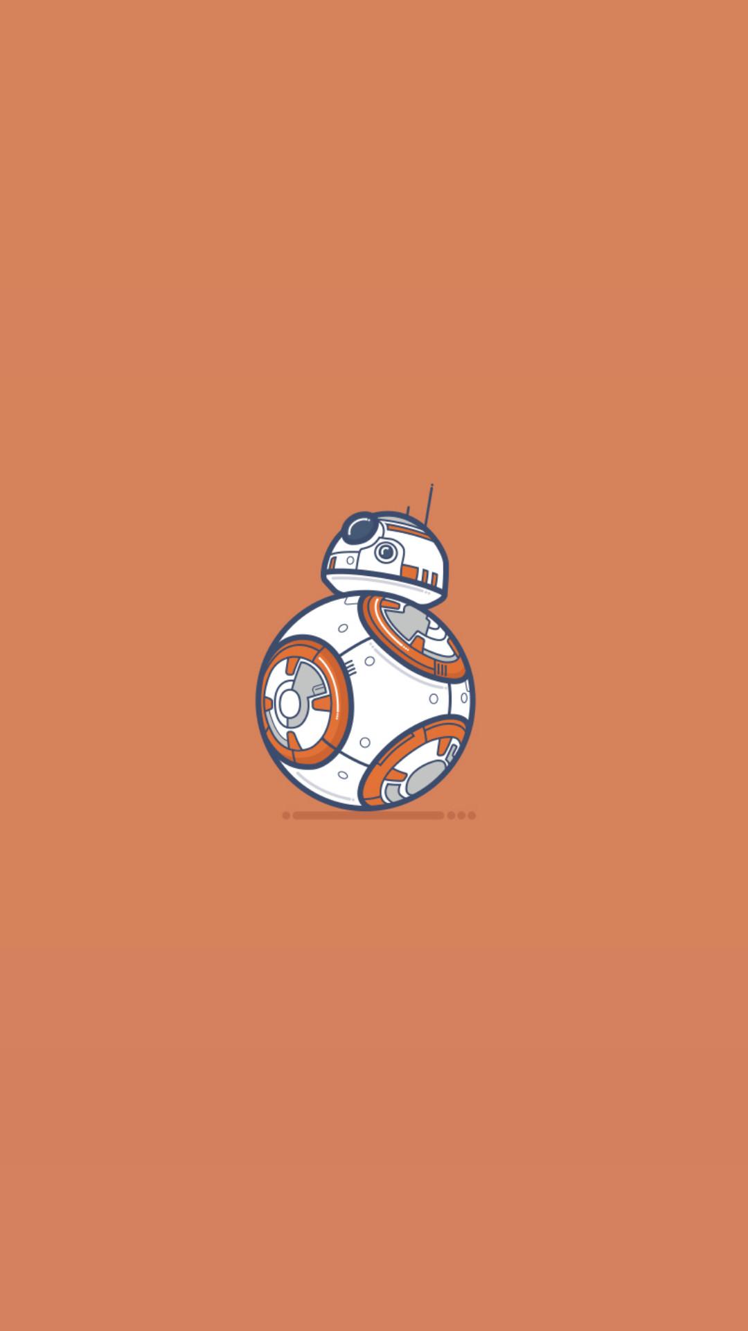 General material minimal Star Wars BB-8 robot