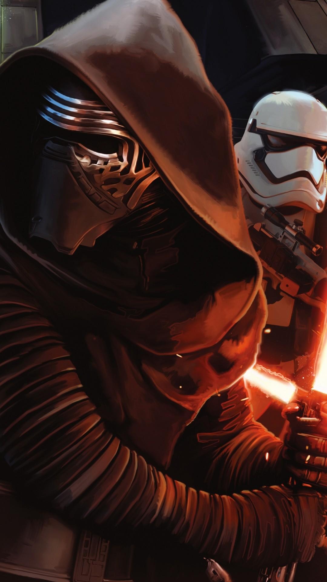 Star Wars The Force Awakens Wallpaper Kylo Ren Stormtrooper. Download:  iPhone
