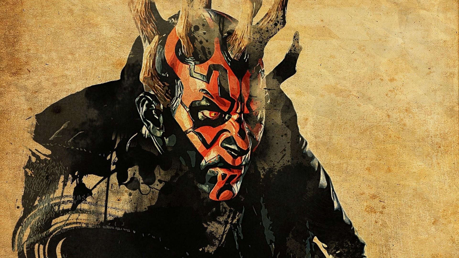 Wallpaper star wars, darth maul, art