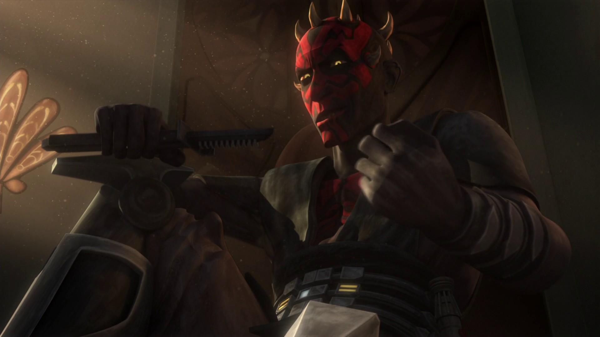 Darth Maul will have the usual force user nerf in these fights  (Choke,Grip,Mind tricks) everything else is fine