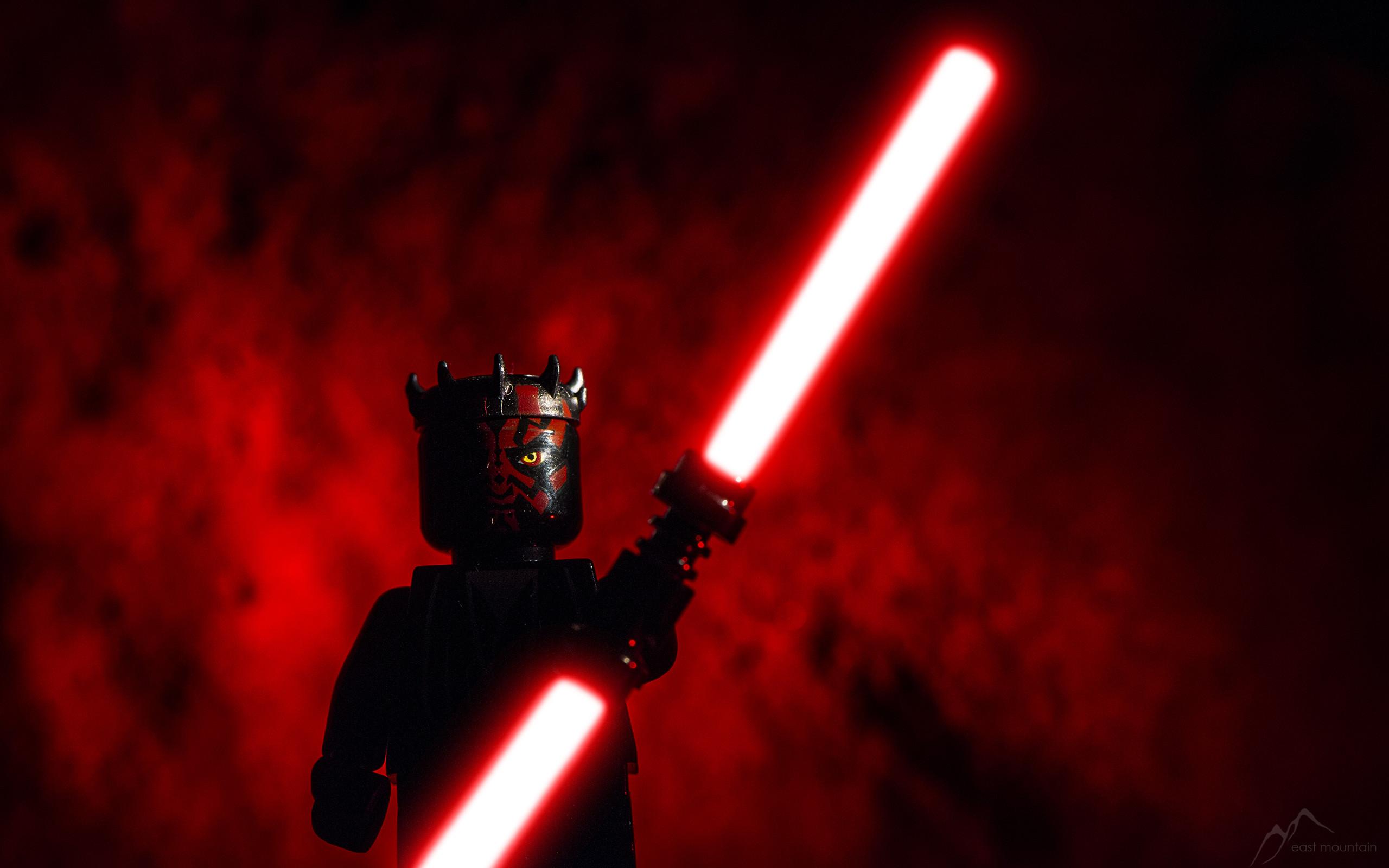 Desktop background darth maul lego lightsaber red star wars