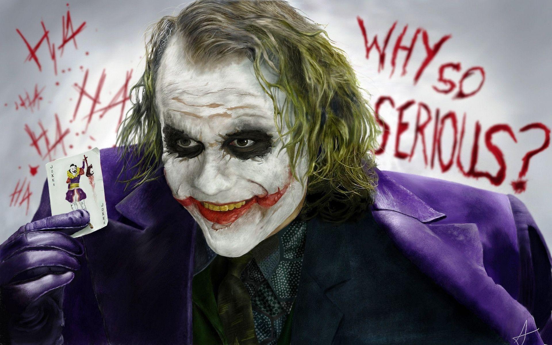 Wallpaper-Joker-Heath-Ledger-Smiling Joker wallpaper HD free .