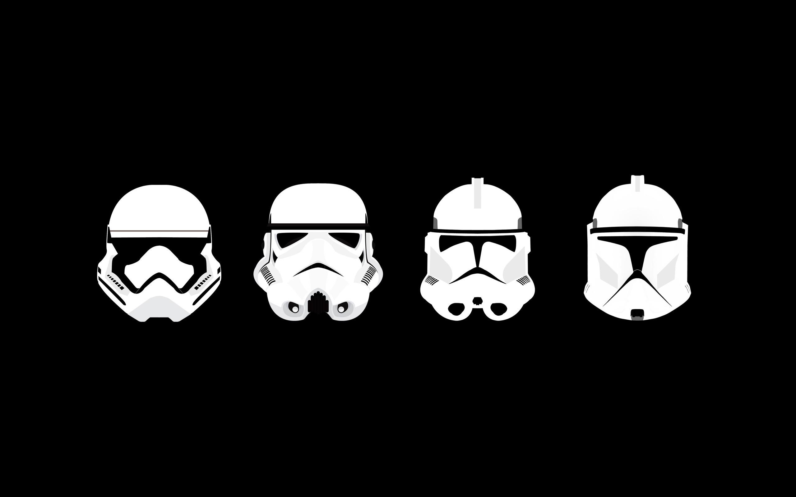 minimalism, Star Wars, Clone Trooper, Stormtrooper, Helmet Wallpapers HD /  Desktop and Mobile Backgrounds