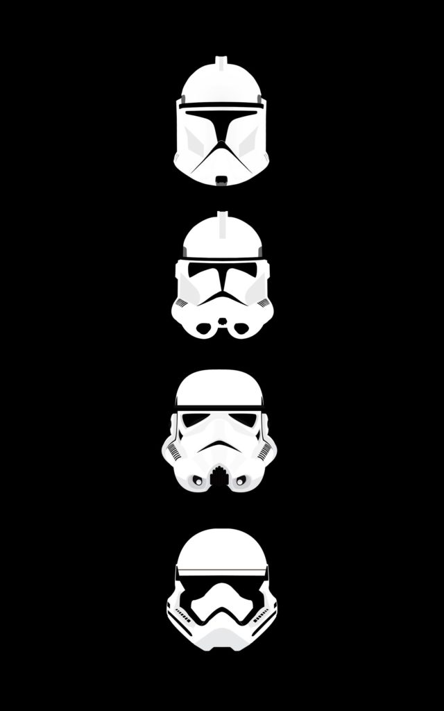 General Star Wars clone trooper stormtrooper helmet minimalism  portrait display