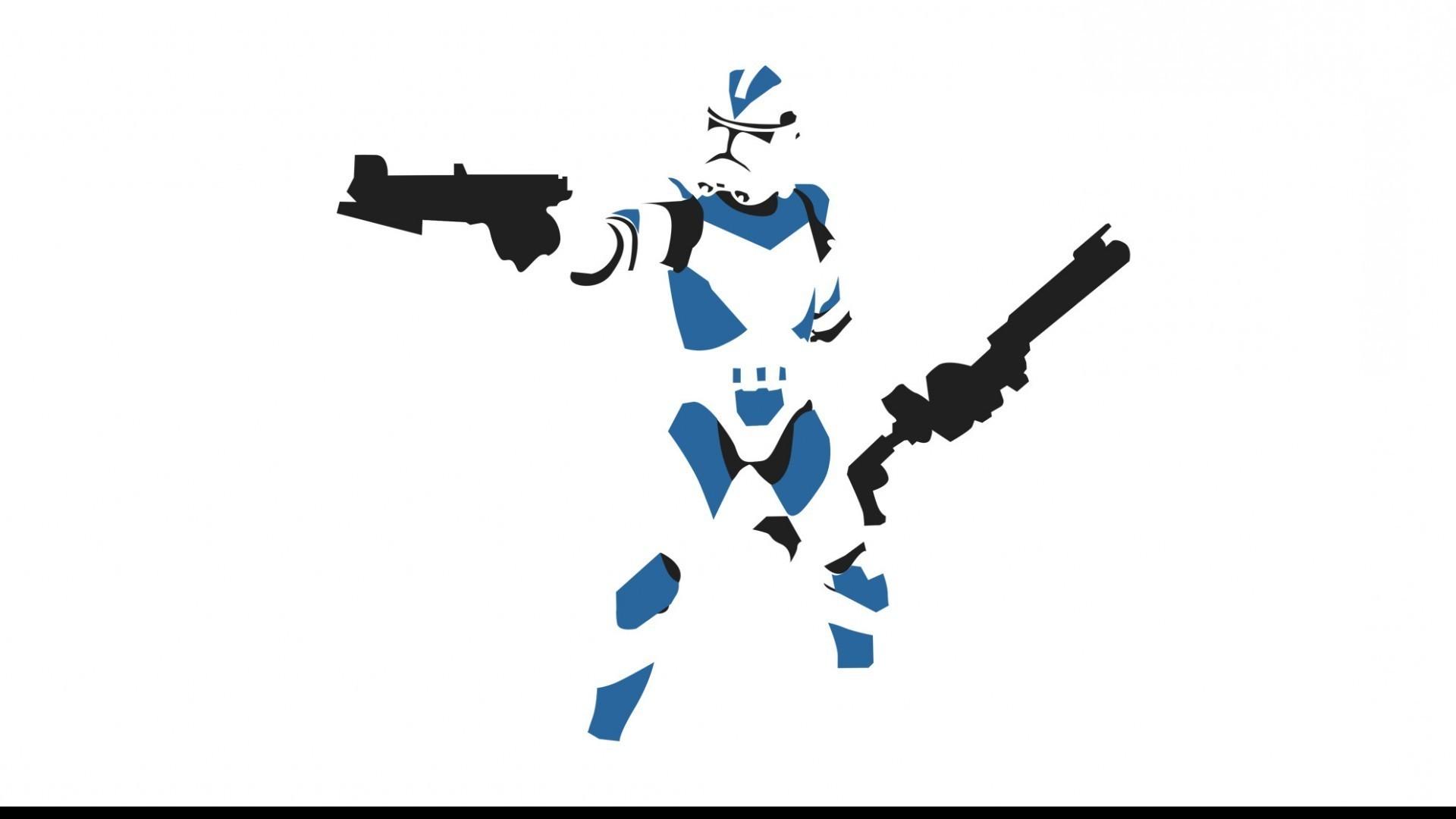 Star Wars, Clone Trooper, Minimalism