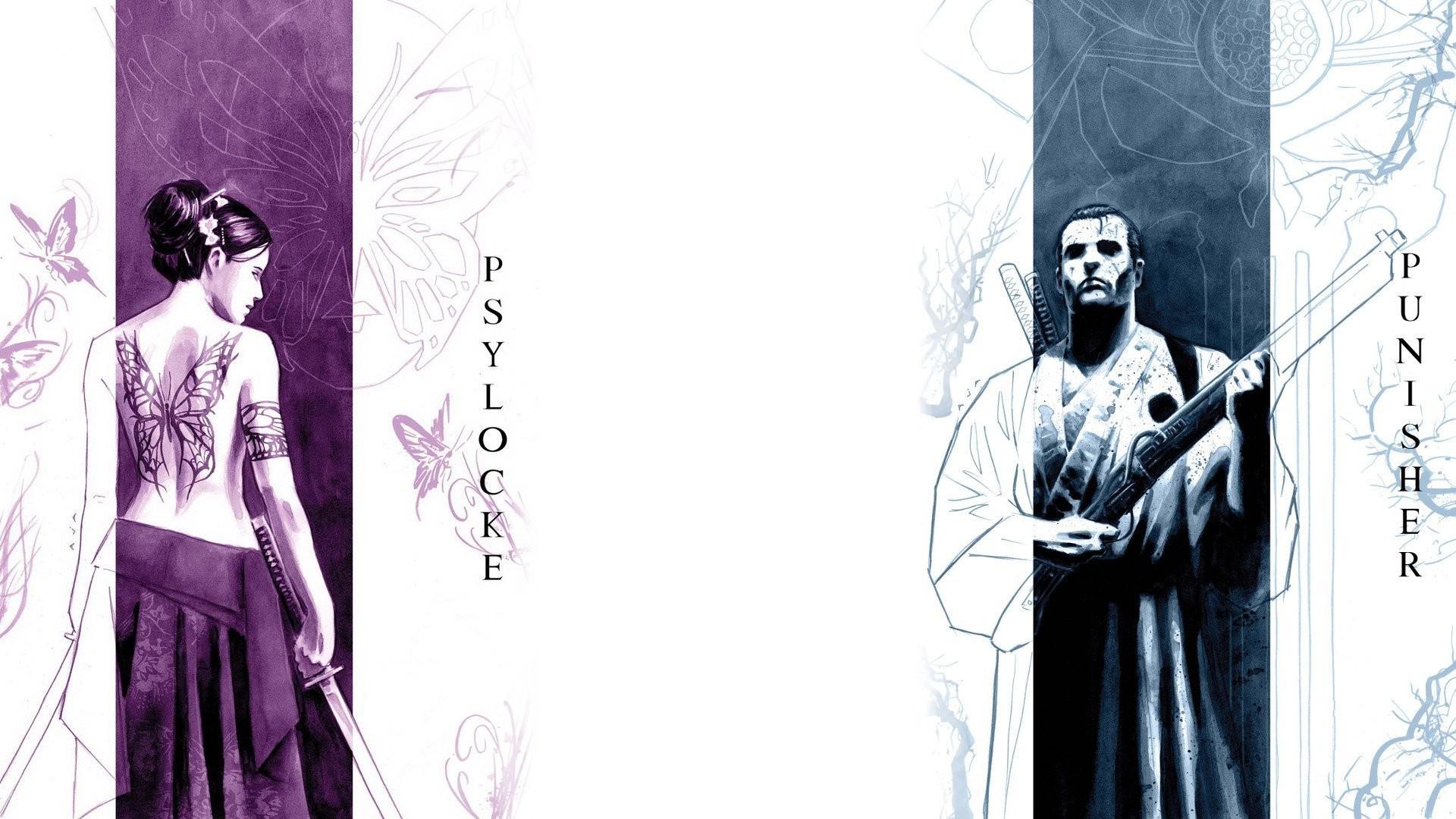 Comics – Psylocke Punisher Wallpaper