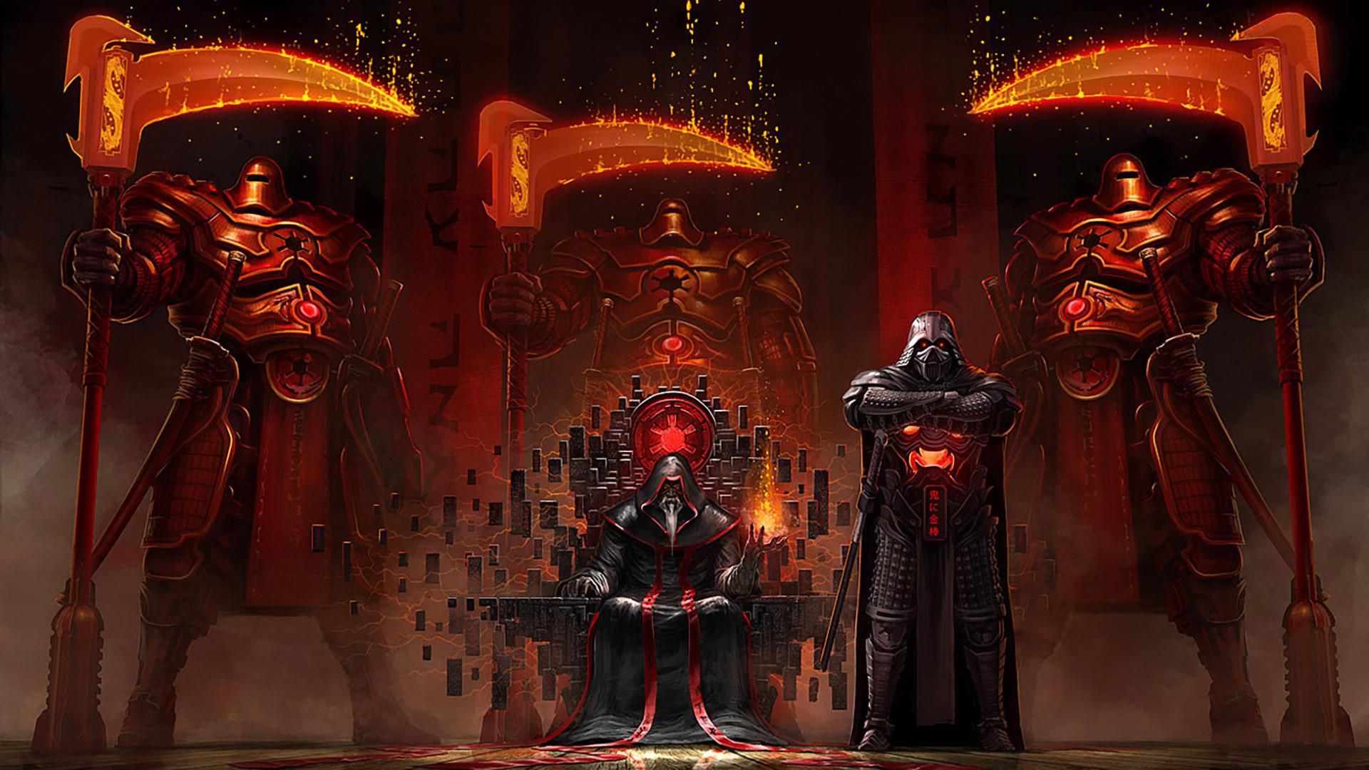 Sci Fi – Star Wars Warrior Armor Darth Vader Throne Scythe Wallpaper