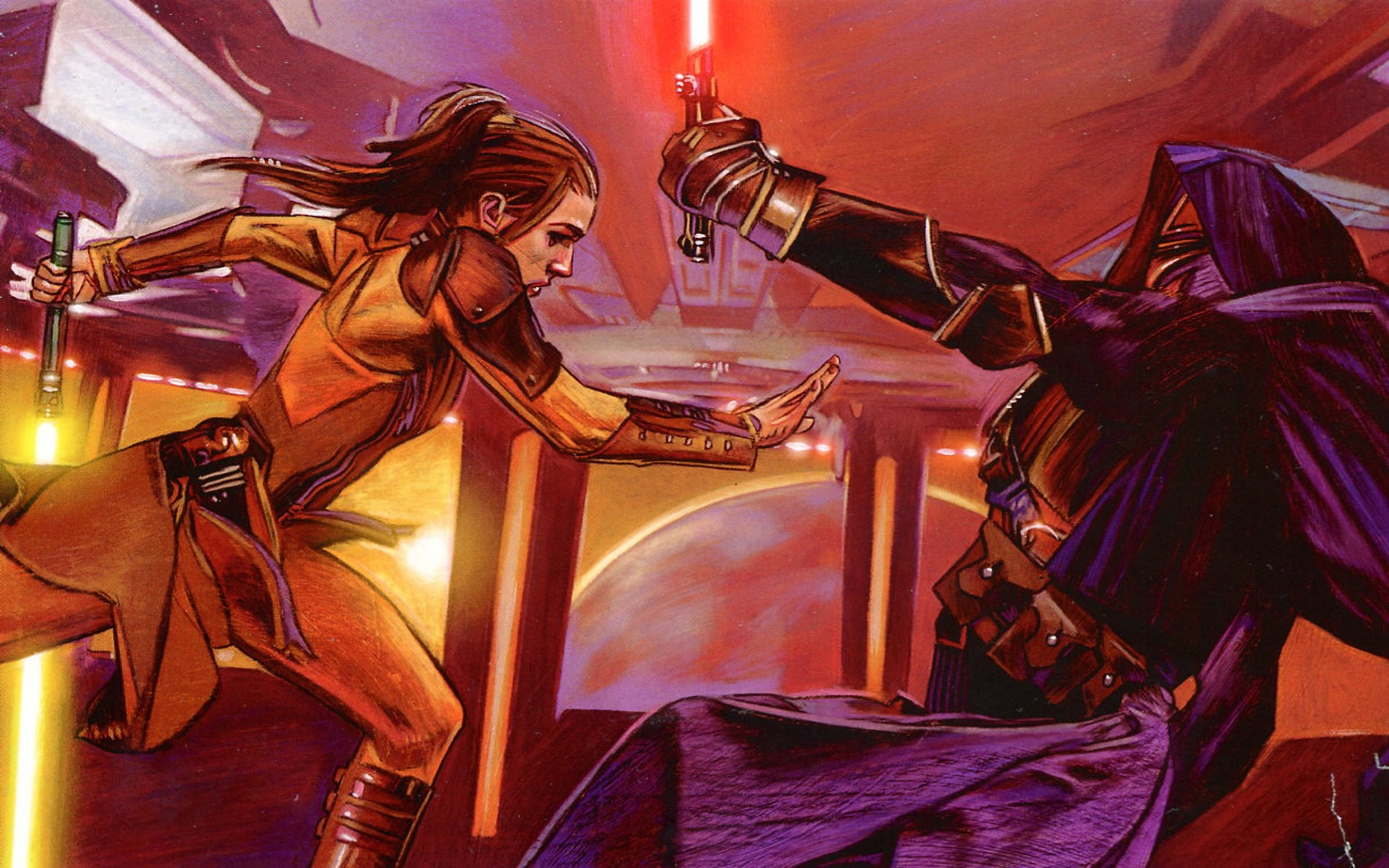 … desktop wallpaper; Star Wars, lightsabers, Sith, Jedi, Darth Revan,  Bastila Shan, Star …