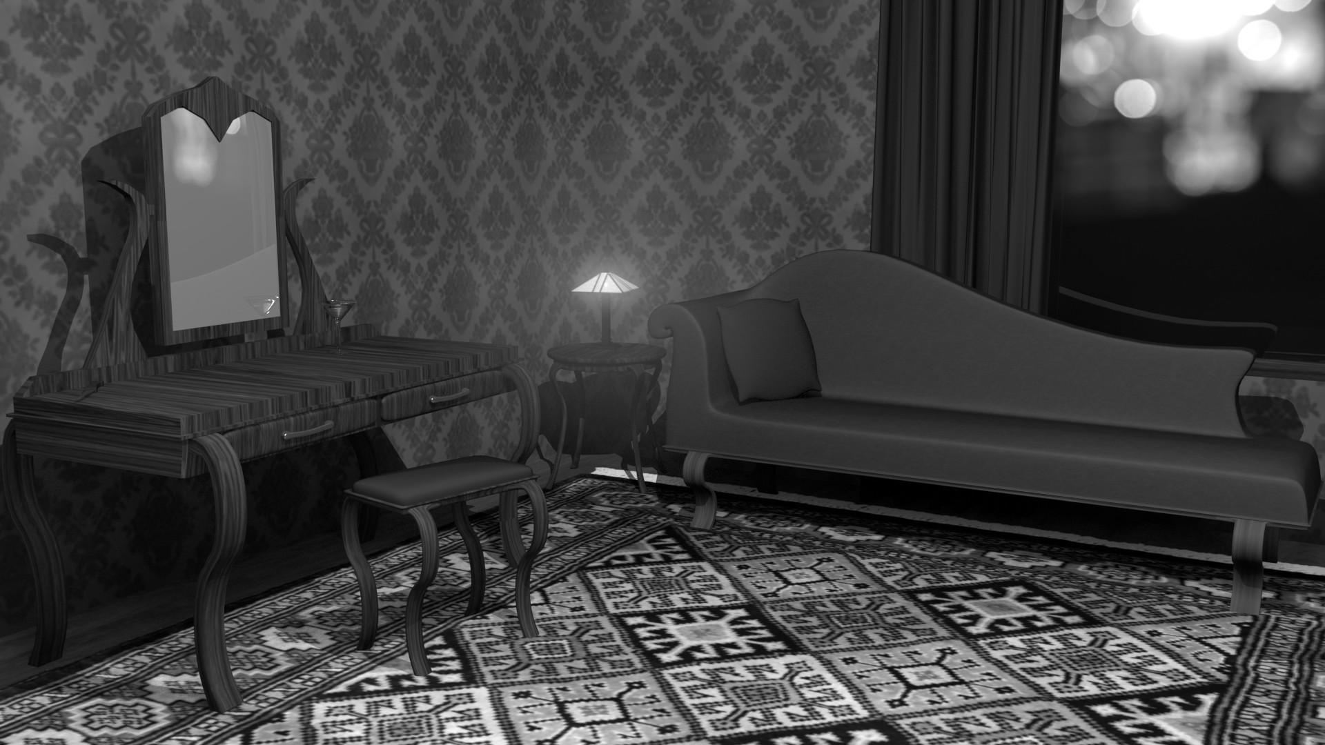 Film Noir Room – Black & White