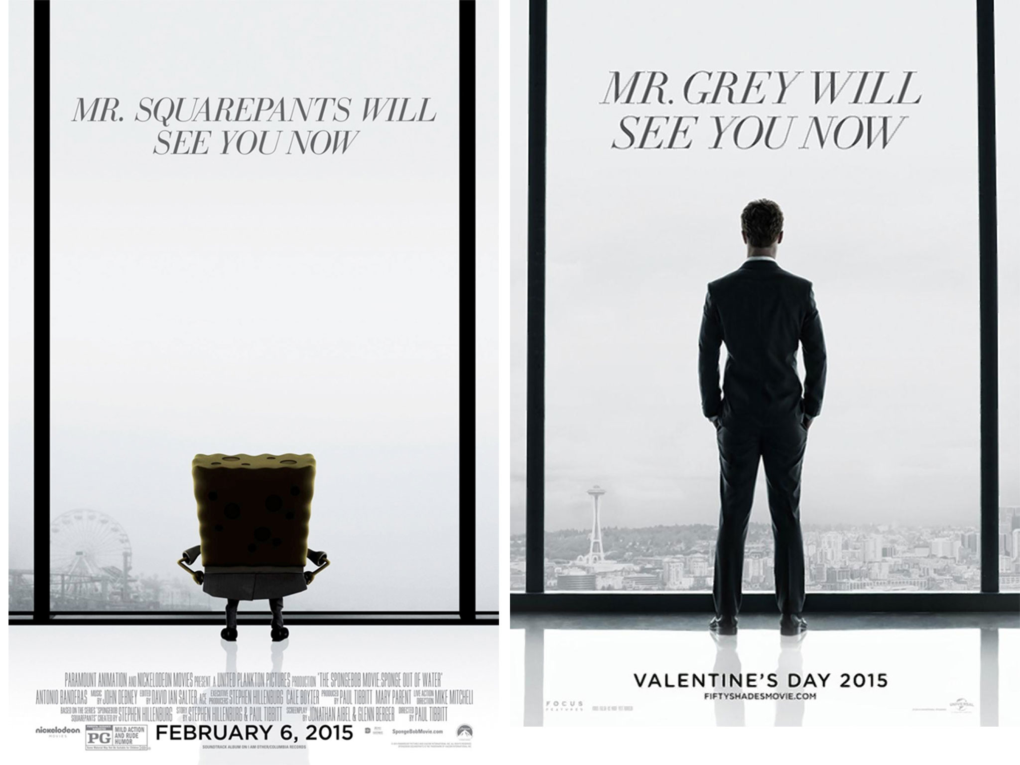 Fifty Shades of Grey movie shown right next to Spongebob 2 at drive-in and  traumatises kids   The Independent
