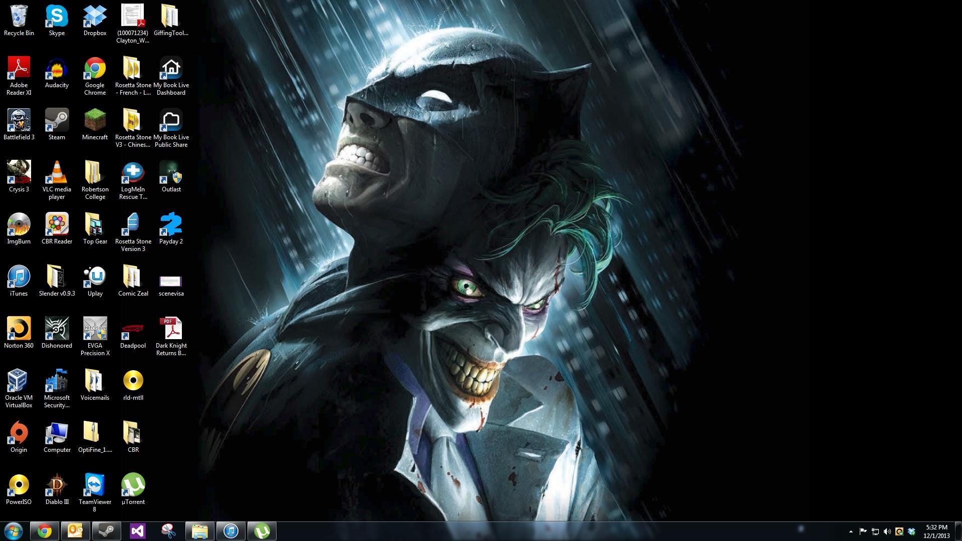 My new desktop background, from The Dark Knight Returns OST .