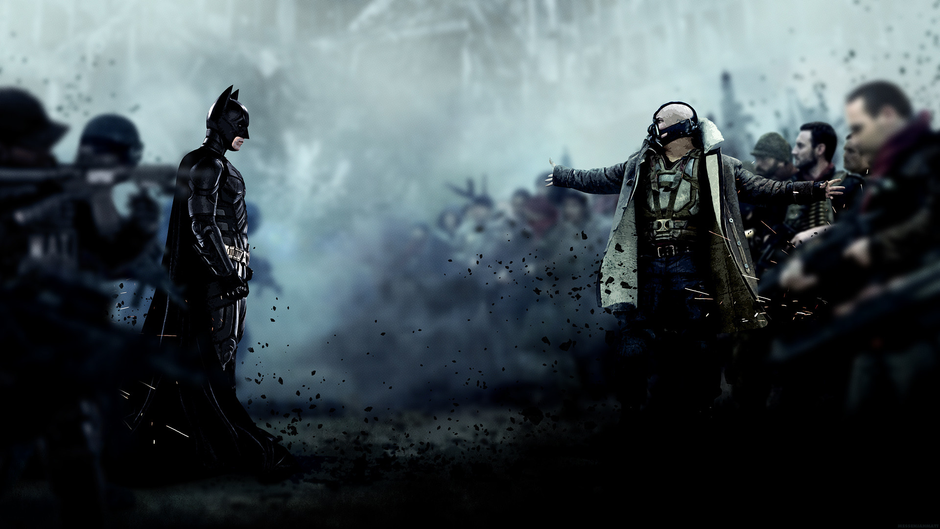 Batman vs Bane – The Dark Knight Rises