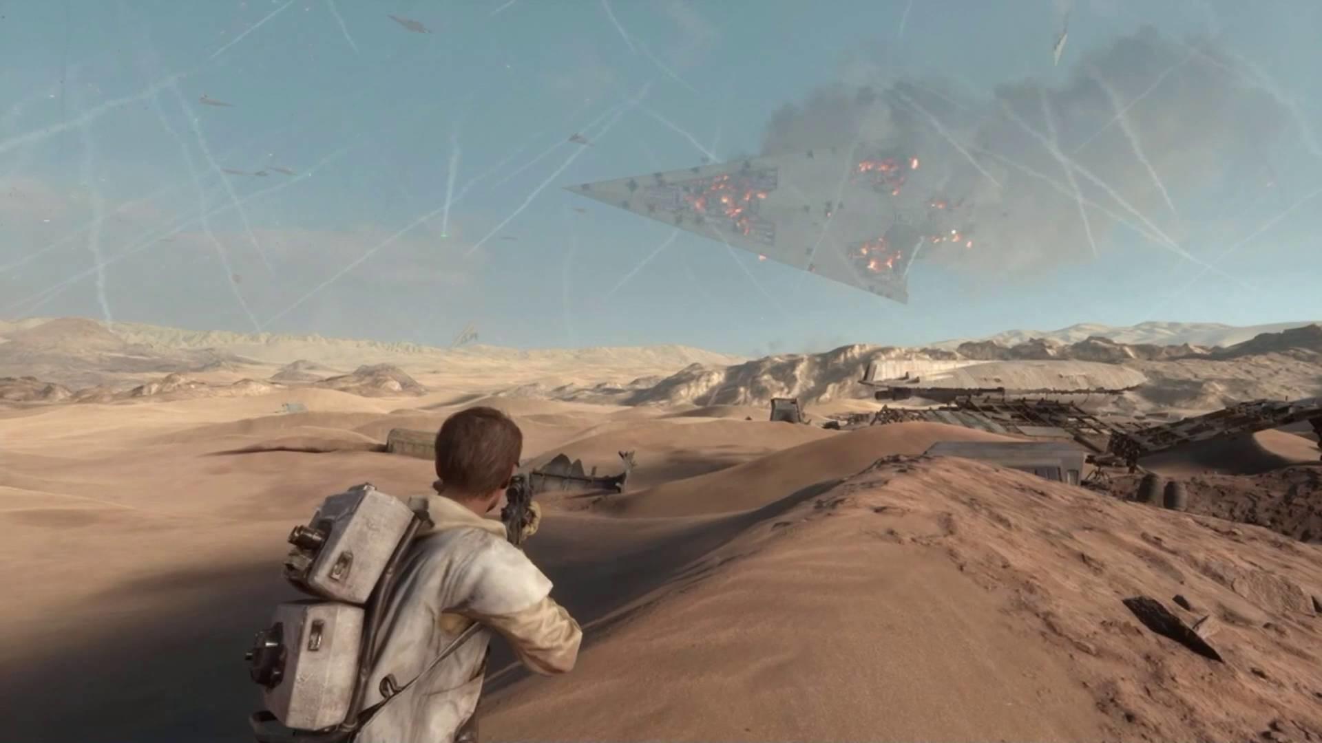 Super Star Destroyer crashes to the ground – Star Wars Battlefront