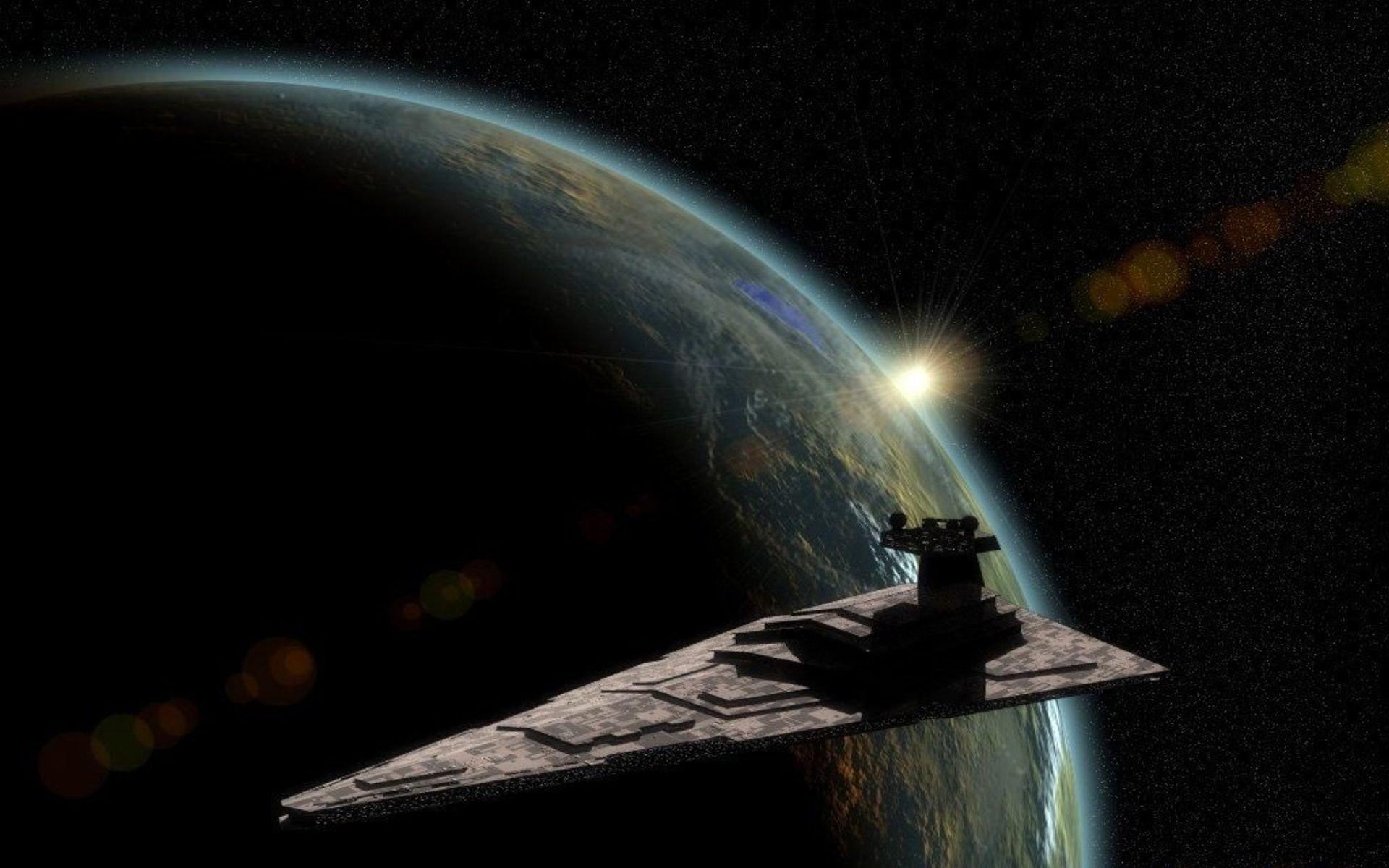 Star Wars outer space stars planets artwork Star Destroyer wallpaper .