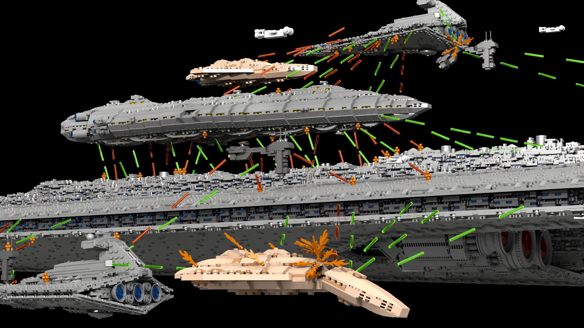 Battle of Endor with 71.000 pieces Super Star Destroyer