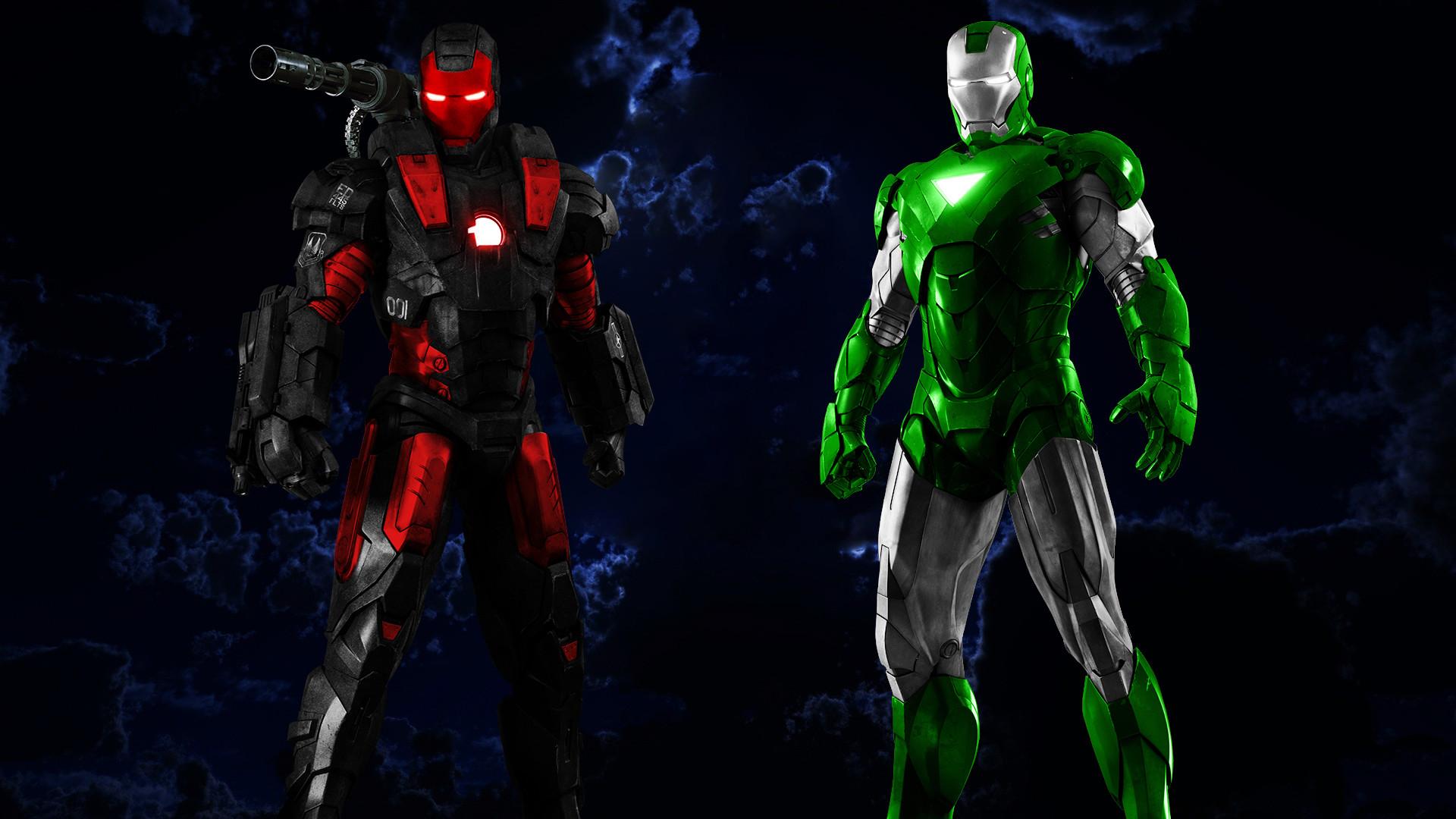 War Machine and Iron Man Iron Man HD desktop wallpaper