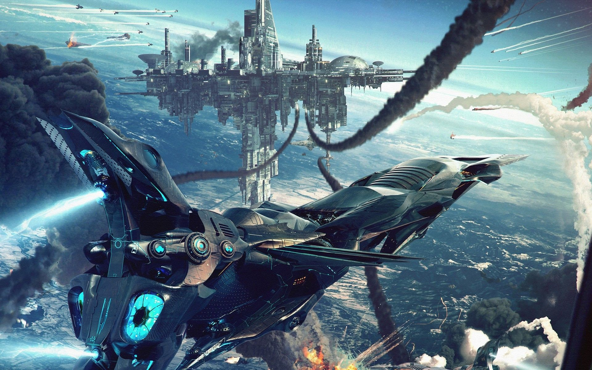 Futuristic Flying Ships – Viewing Gallery War Machine Wallpapers