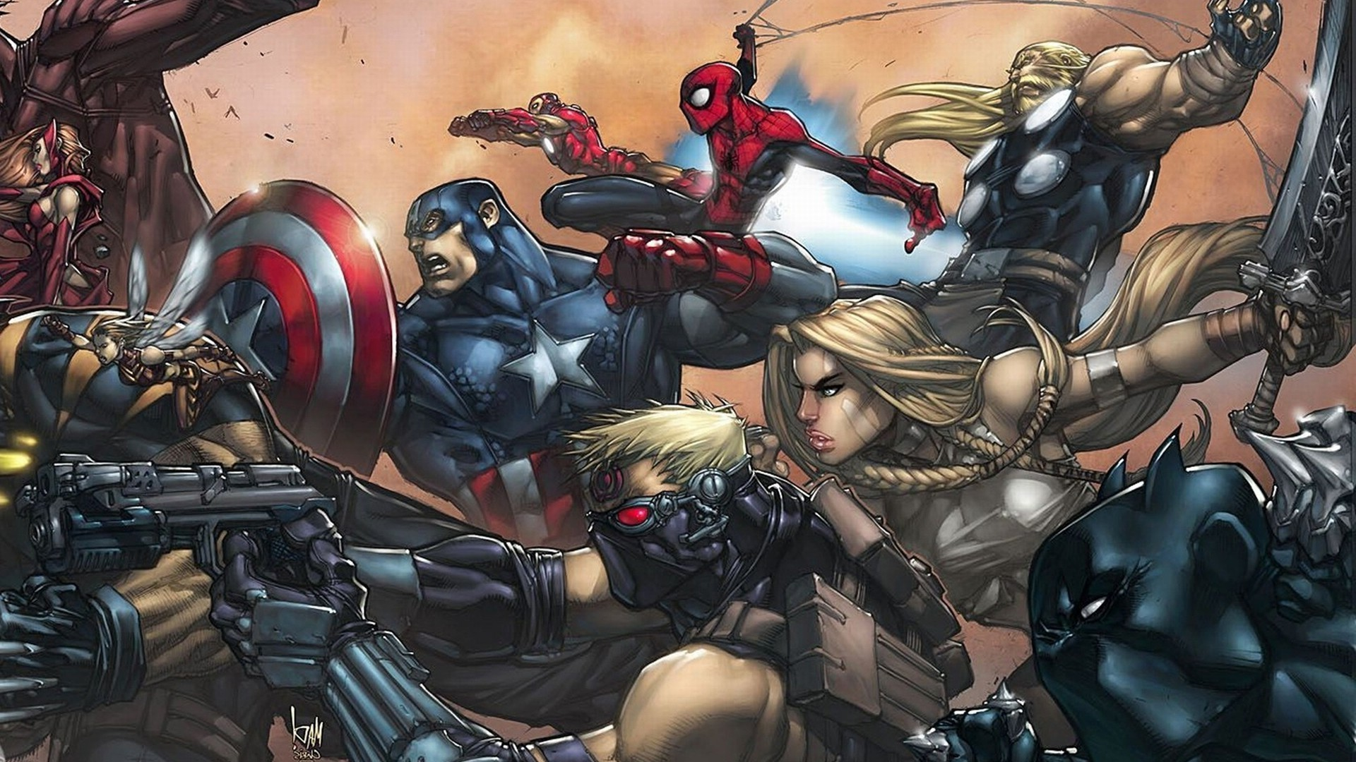 comics, Spider Man, Captain America, The Avengers, Thor, Hawkeye Wallpapers  HD / Desktop and Mobile Backgrounds
