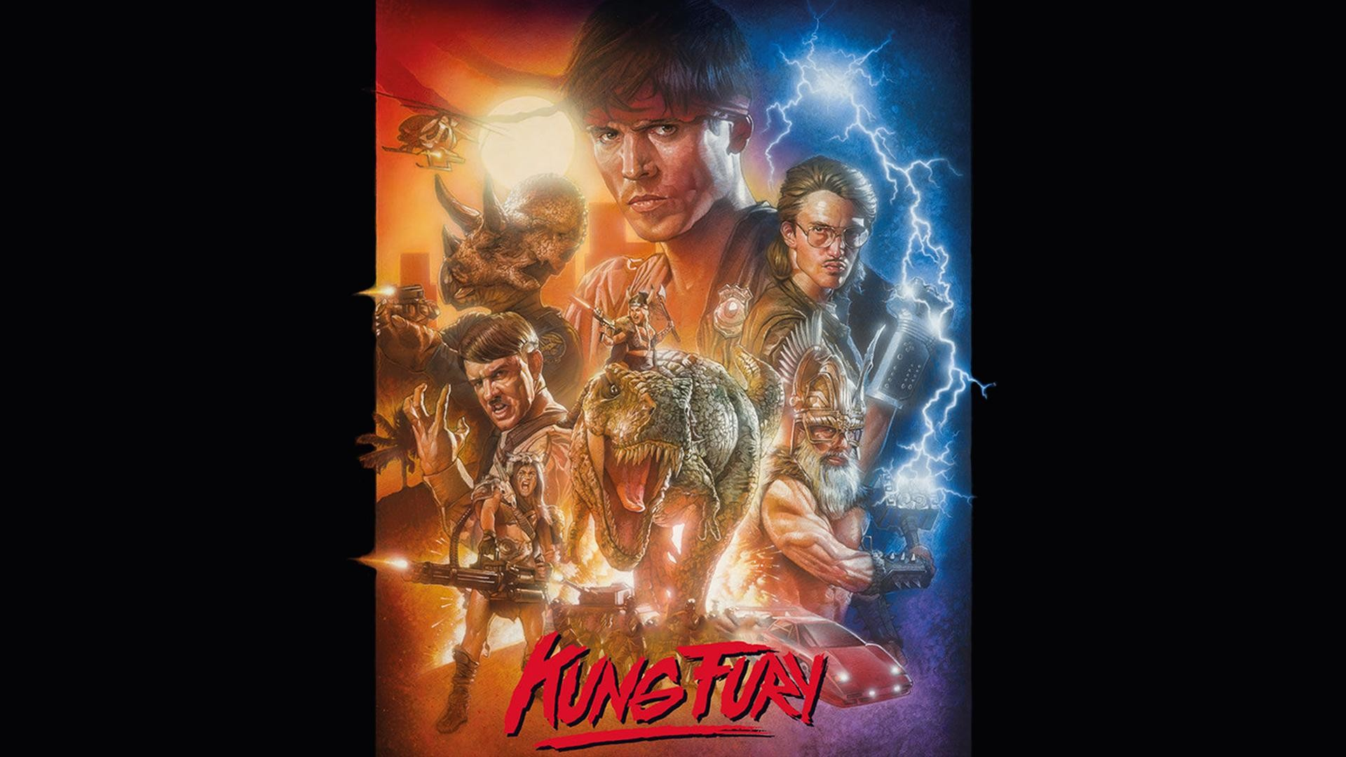 """I made a wallpaper from the official """"Kung Fury"""" Poster [1920×1080] :  wallpapers"""
