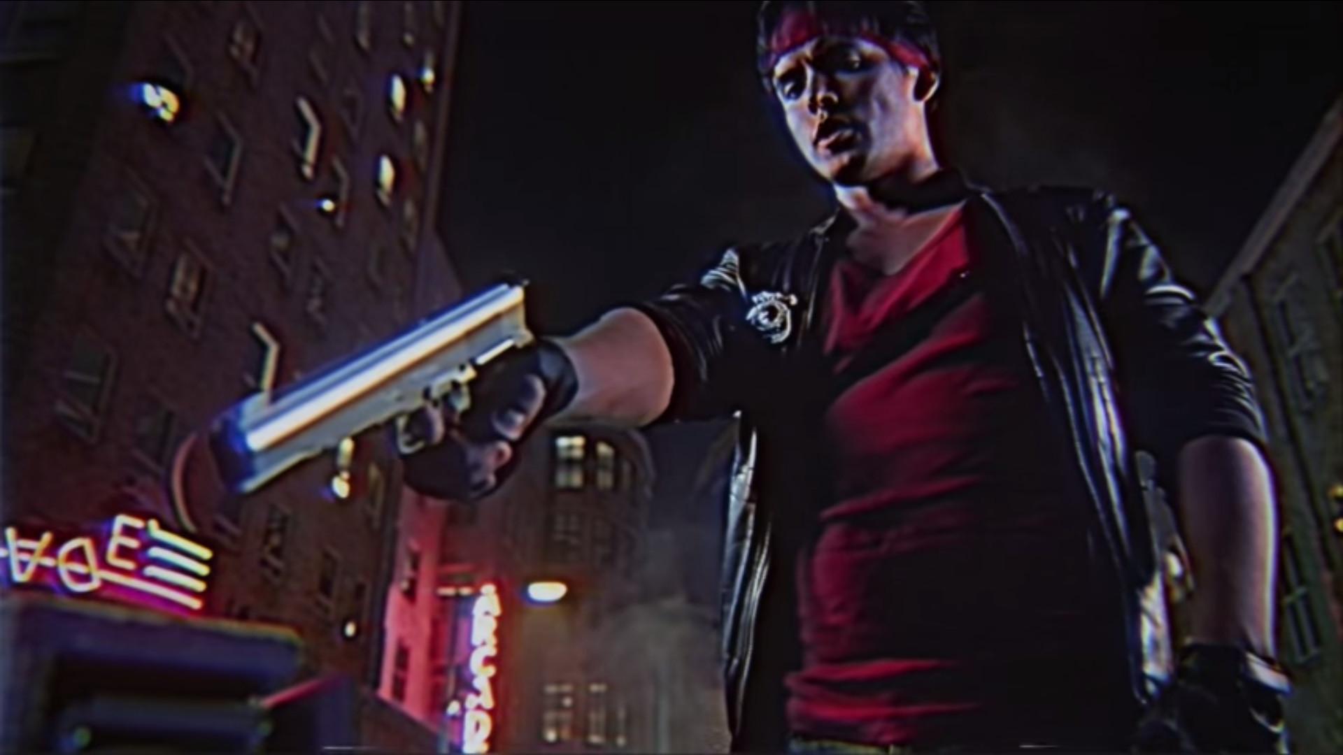 Kung Fury gun pose thing