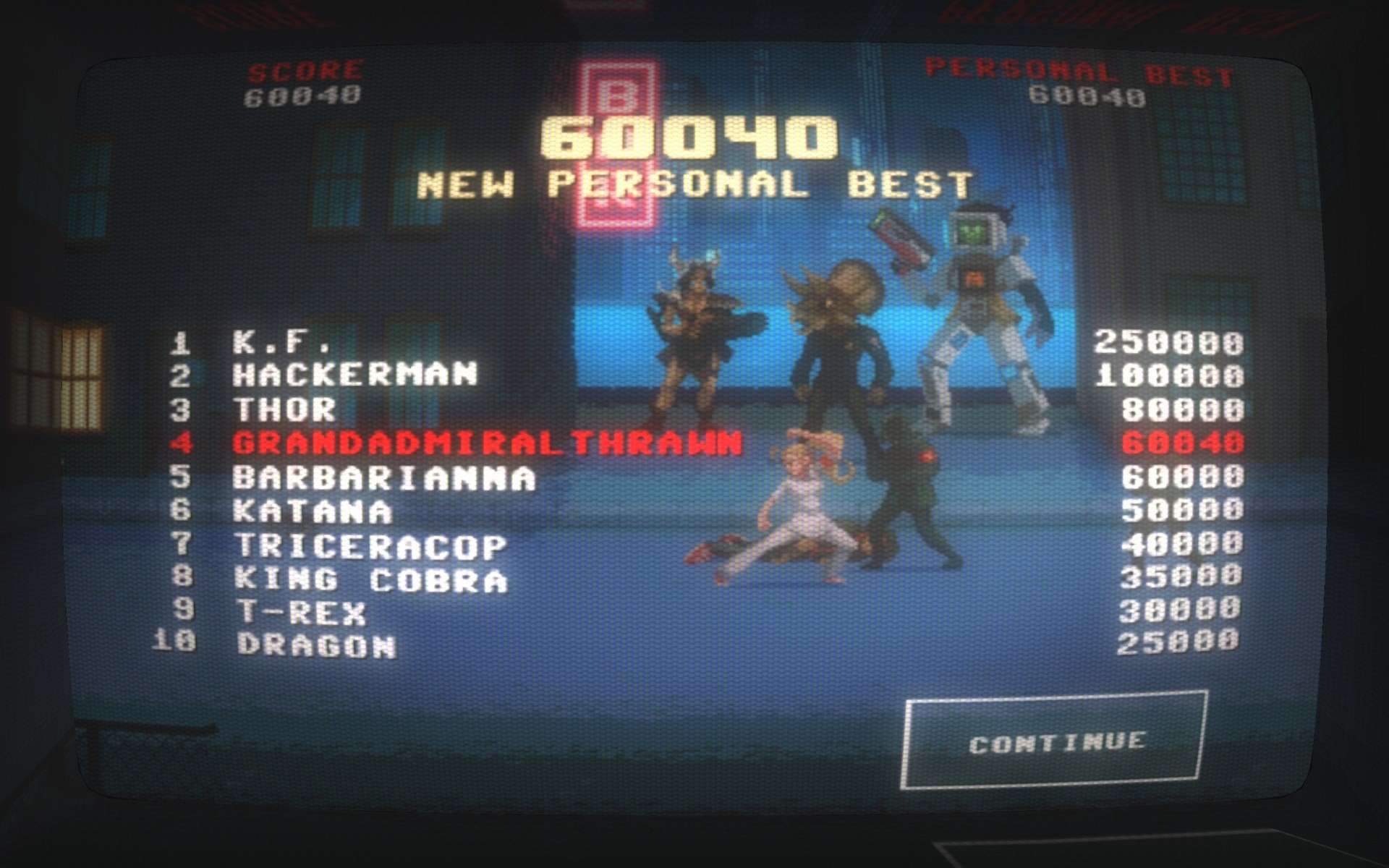 Kung Fury: Street Rage; New High Score!