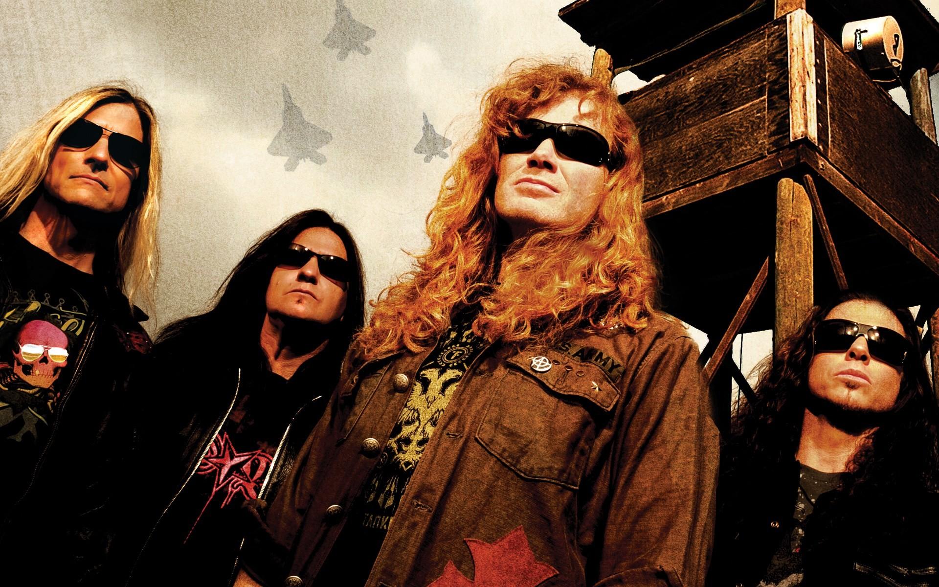 Shawn Drover Megadeth David Ellefson Dave Mustaine Chris Broderick 1080p HD  Wallpaper Background