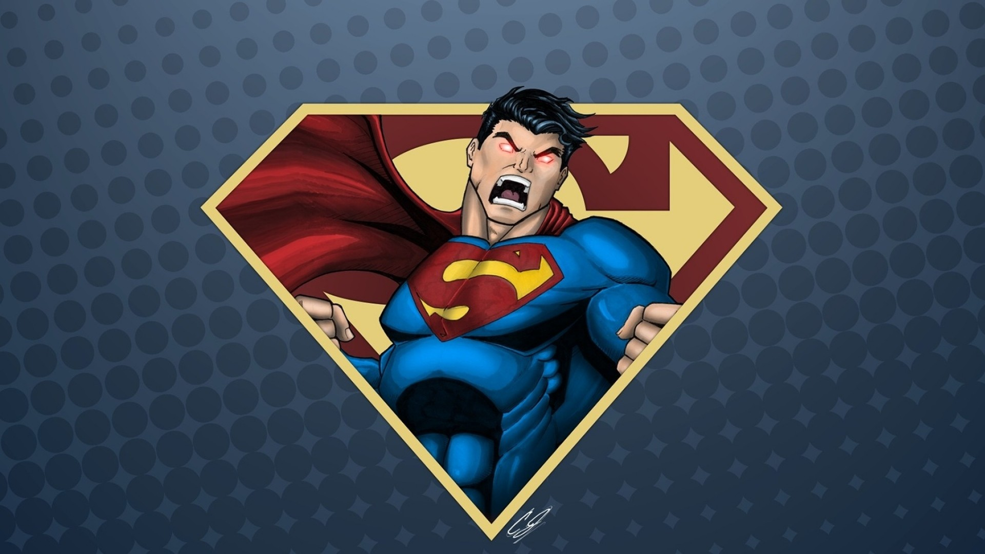 Preview wallpaper superman, drawing, emotions 1920×1080