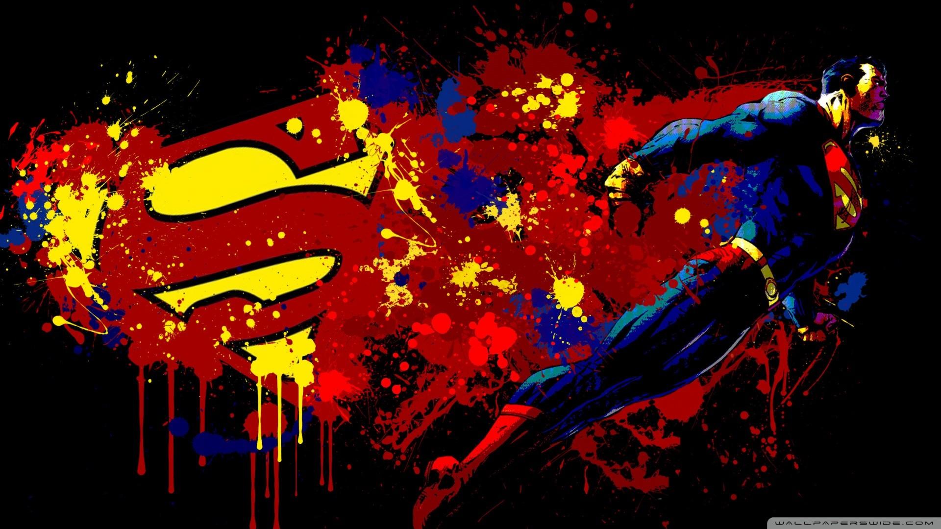 HD Superman Abstract Cartoon 1080p Wallpaper Full Size .