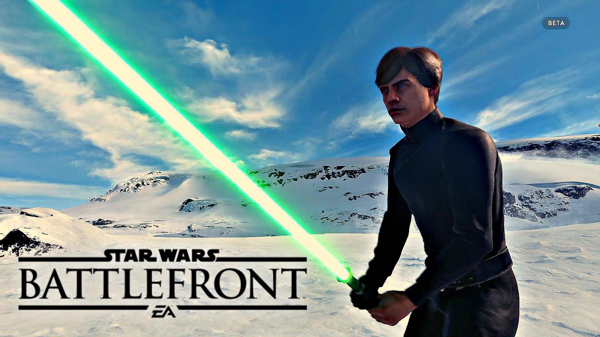 Star Wars Battlefront Walker Assault – LUKE SKYWALKER! (Ps4/Xbox One Beta  Gameplay 1080p HD) – YouTube