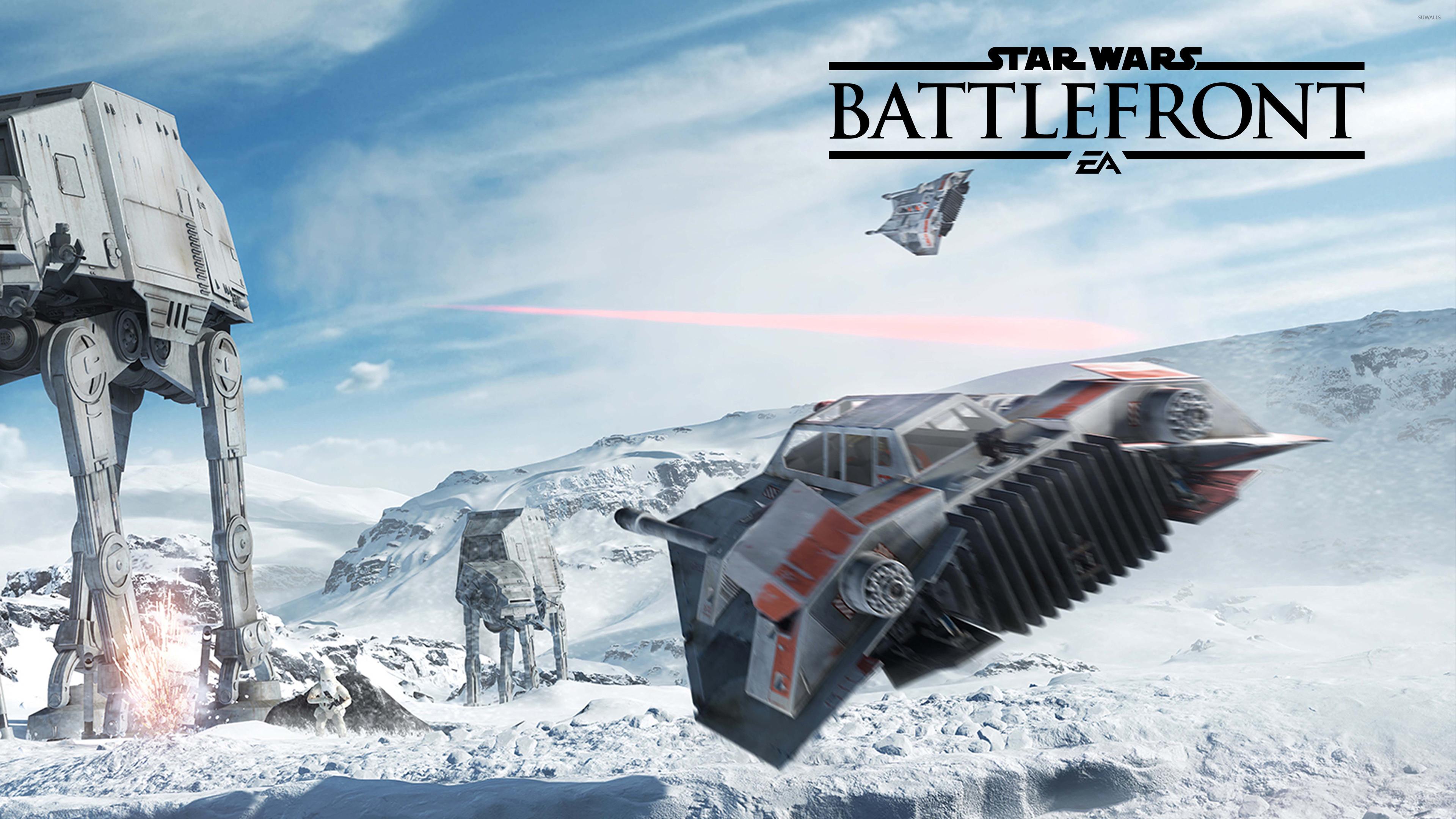 47 snowspeeder flying in Star Wars Battlefront wallpaper 1366×768