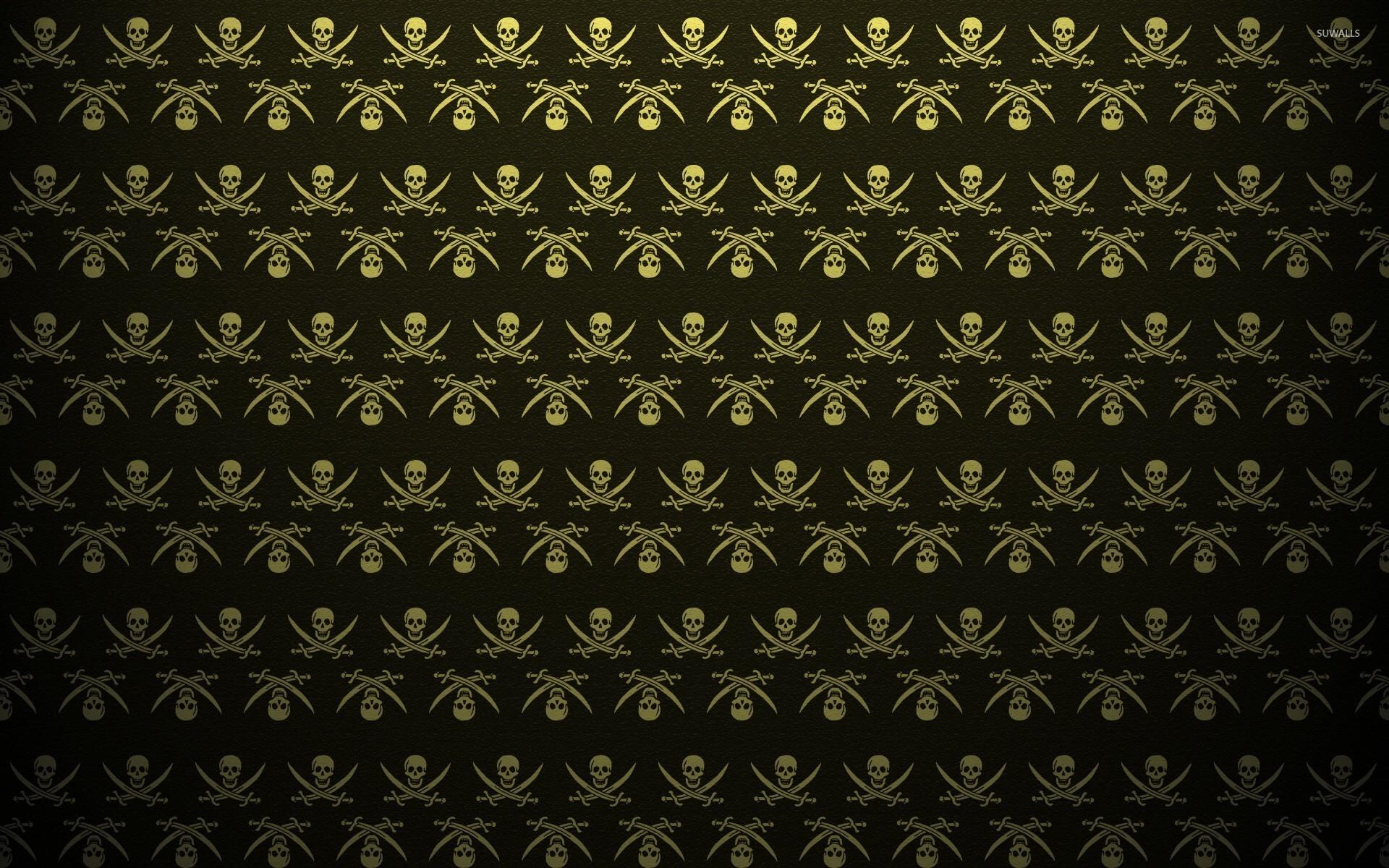 Pirate flag pattern wallpaper jpg