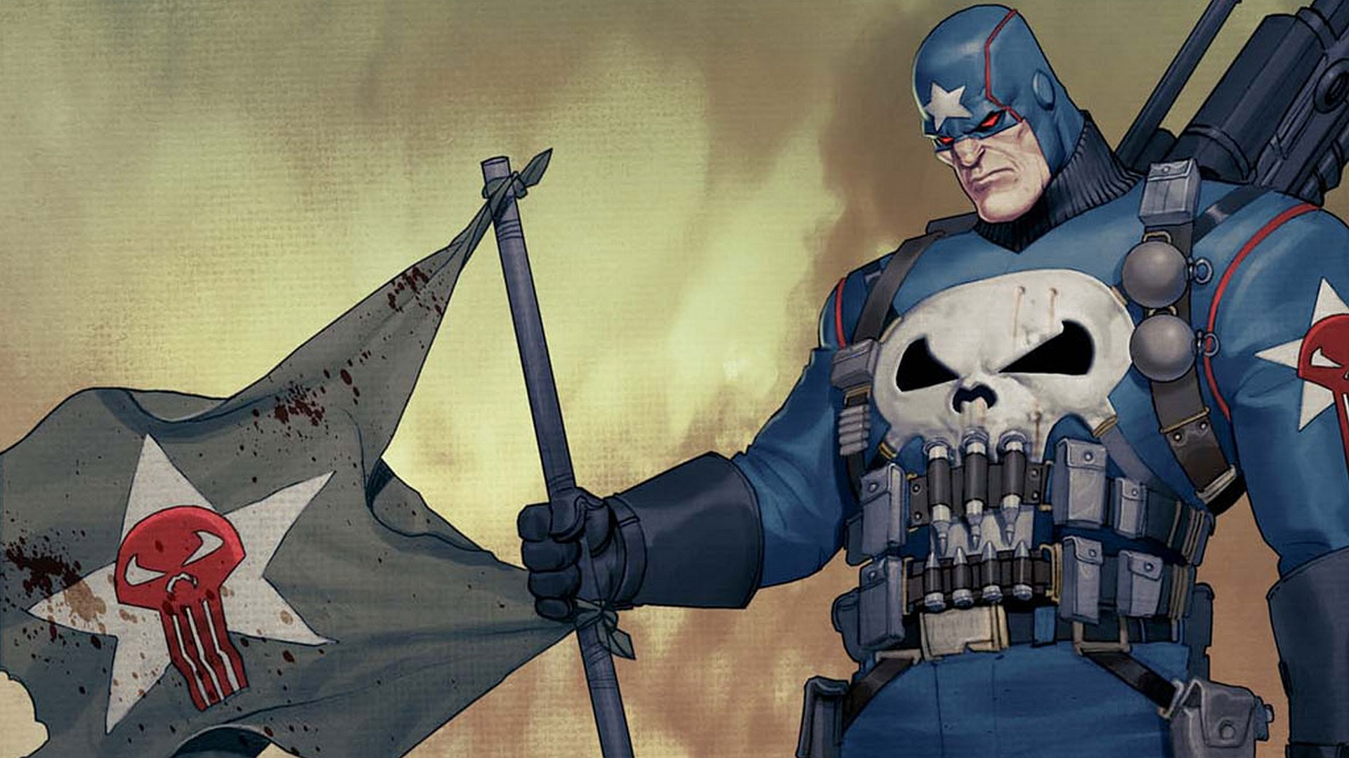 the punisher with flag Wallpaper Background   20253