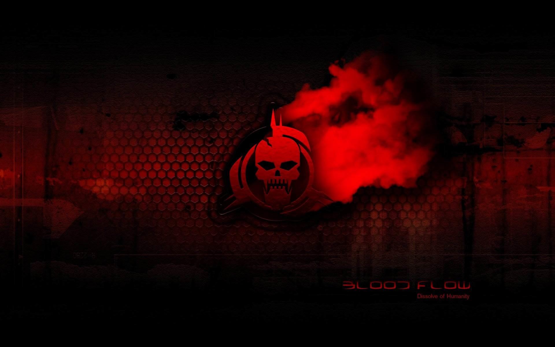 Red Guitar Skull Wallpaper by aerorock on DeviantArt 1680×1050 Red And  Black Skull Wallpapers