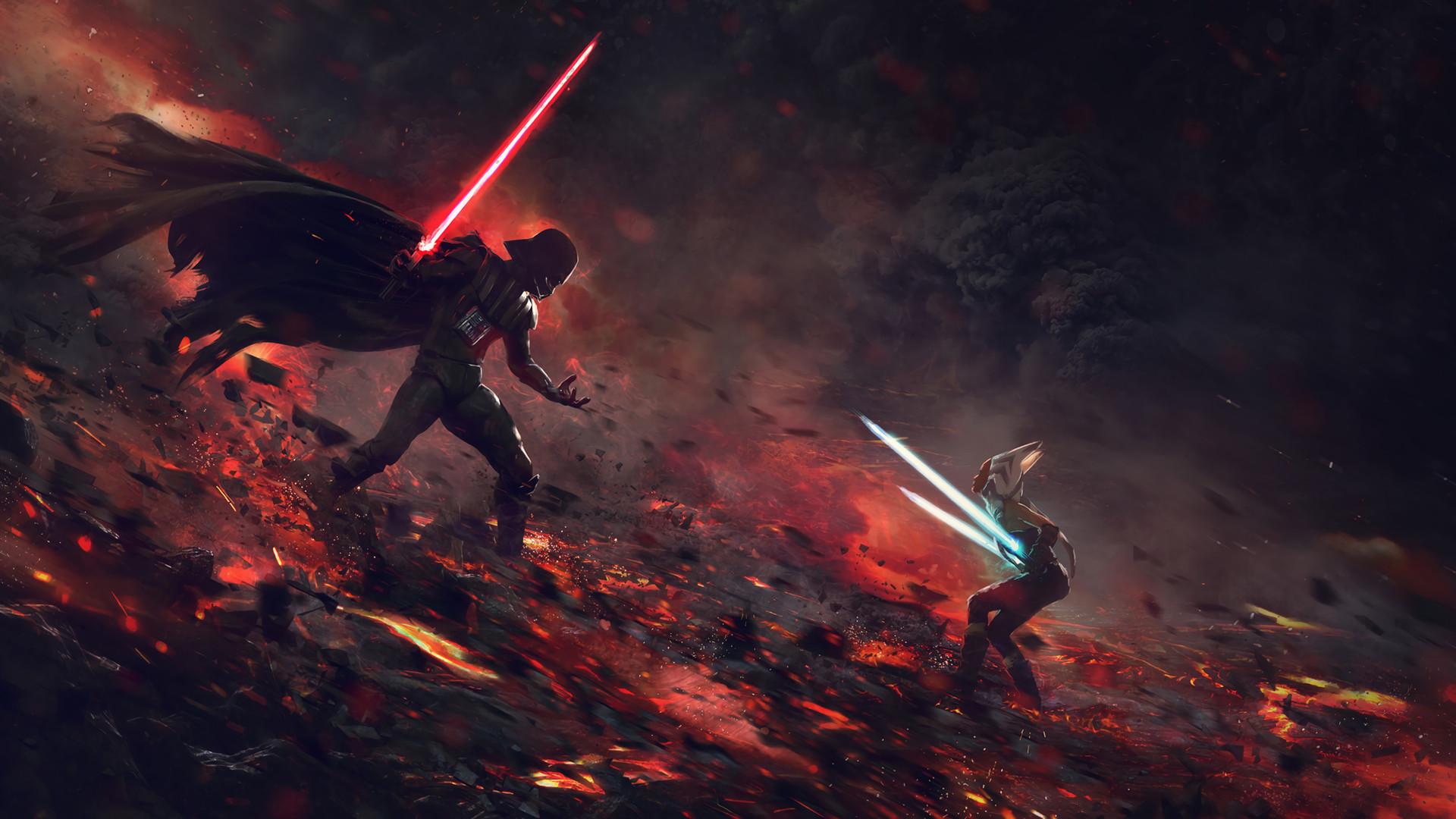 Ahsoka Tano Vs Darth Vader 2560×1080 Resolution