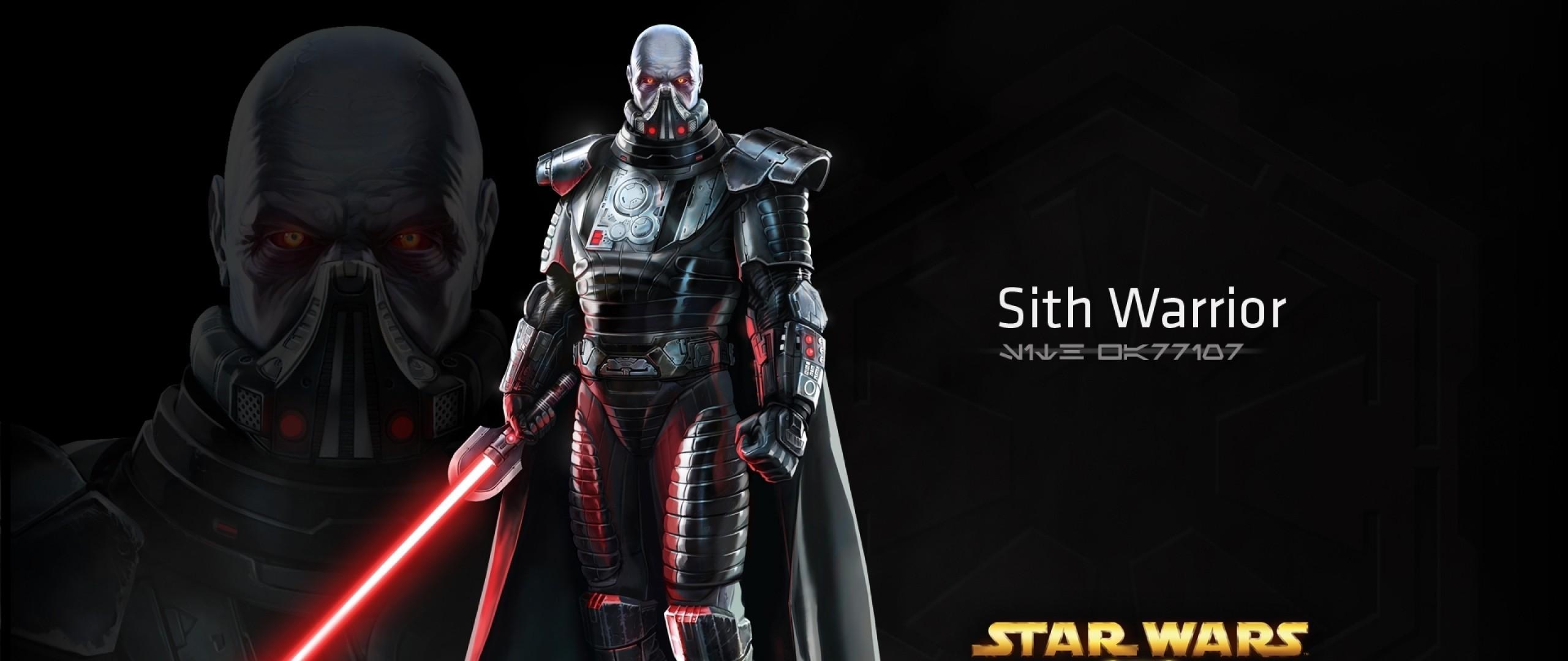 Preview wallpaper star wars the old republic, sith warrior, character,  lightsaber 2560×1080