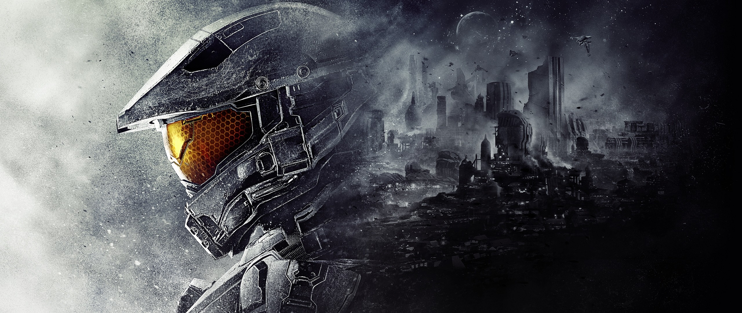 Preview wallpaper halo 5, guardians, 343 industries, master chief 2560×1080