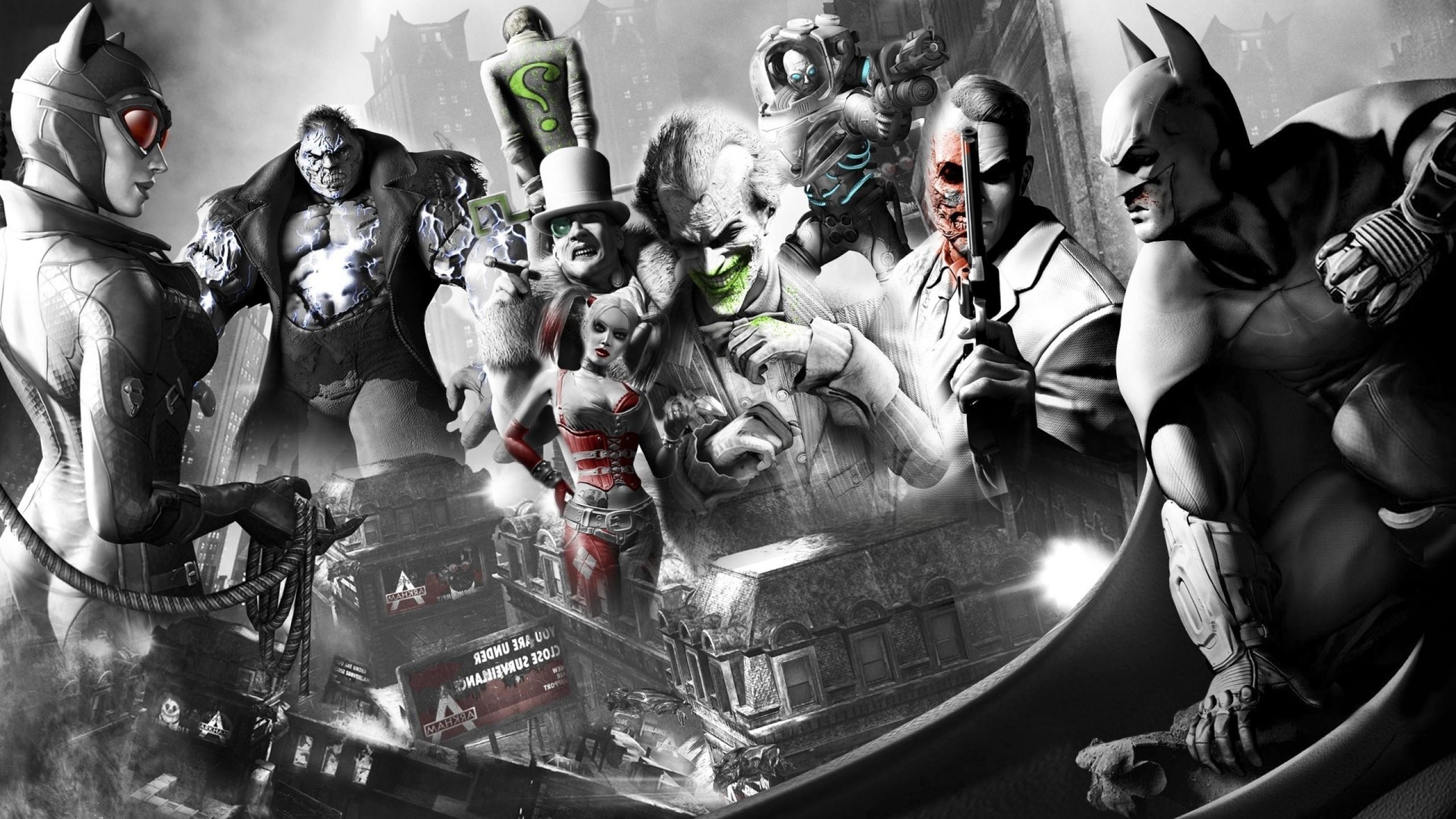 Harley Quinn, Joker, Harvey Dent, Batman: Arkham City, Batman, Catwoman,  Penguin Wallpapers HD / Desktop and Mobile Backgrounds