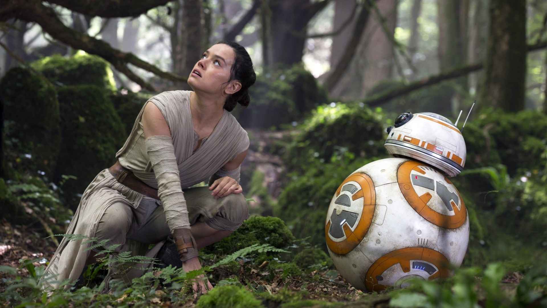 Star Wars, Star Wars: Episode VII The Force Awakens, BB 8, Daisy Ridley, Rey,  Women, Actress, Science Fiction, Movies, Robot Wallpapers HD / Desktop and  …