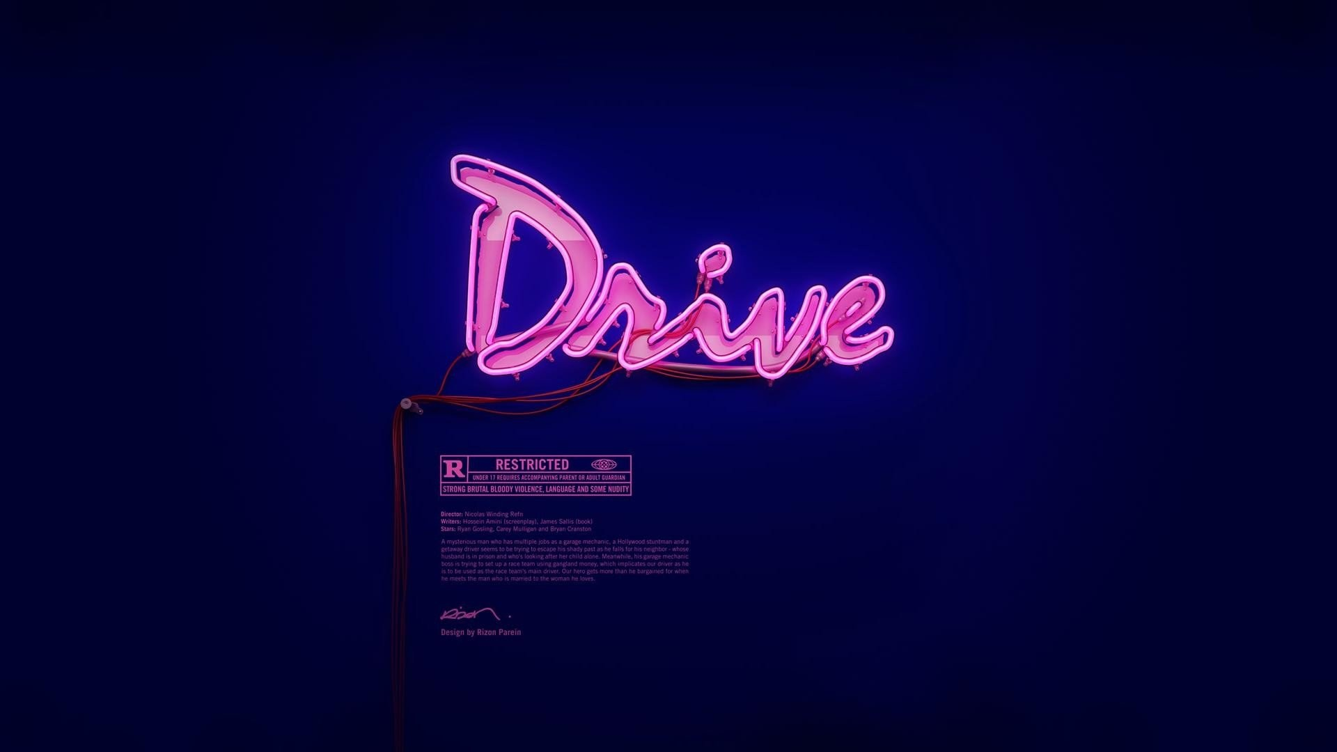 movies drive Drive (movie) neon wallpaper background