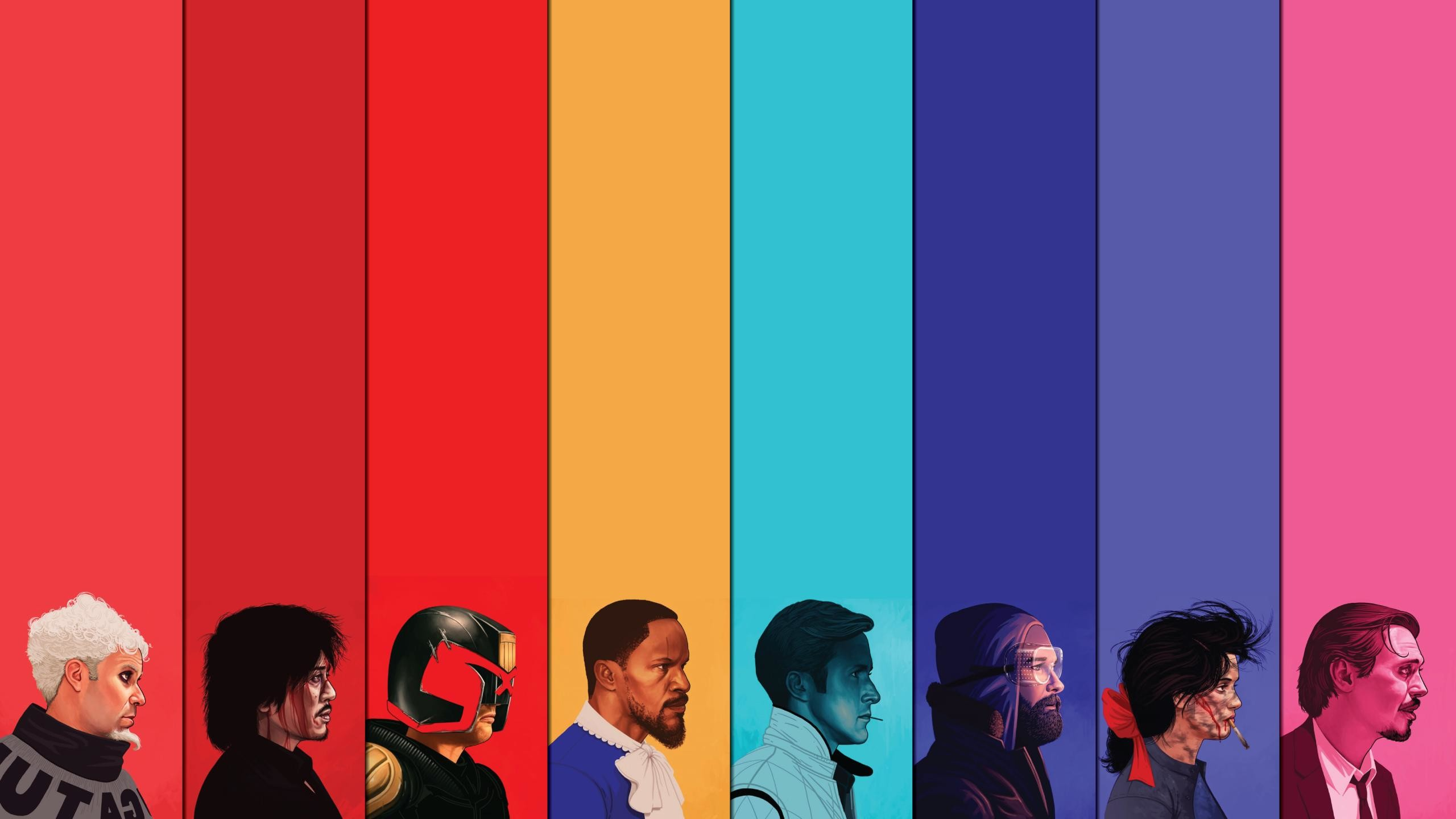 Wallpaper based on Mike Mitchell's Movie Portraits [2560×1440] …