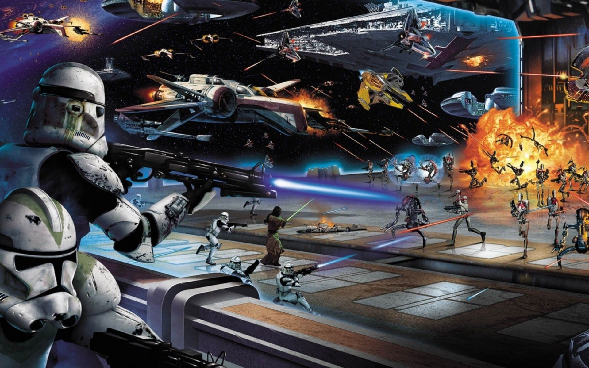 118 Star Wars Space Battle