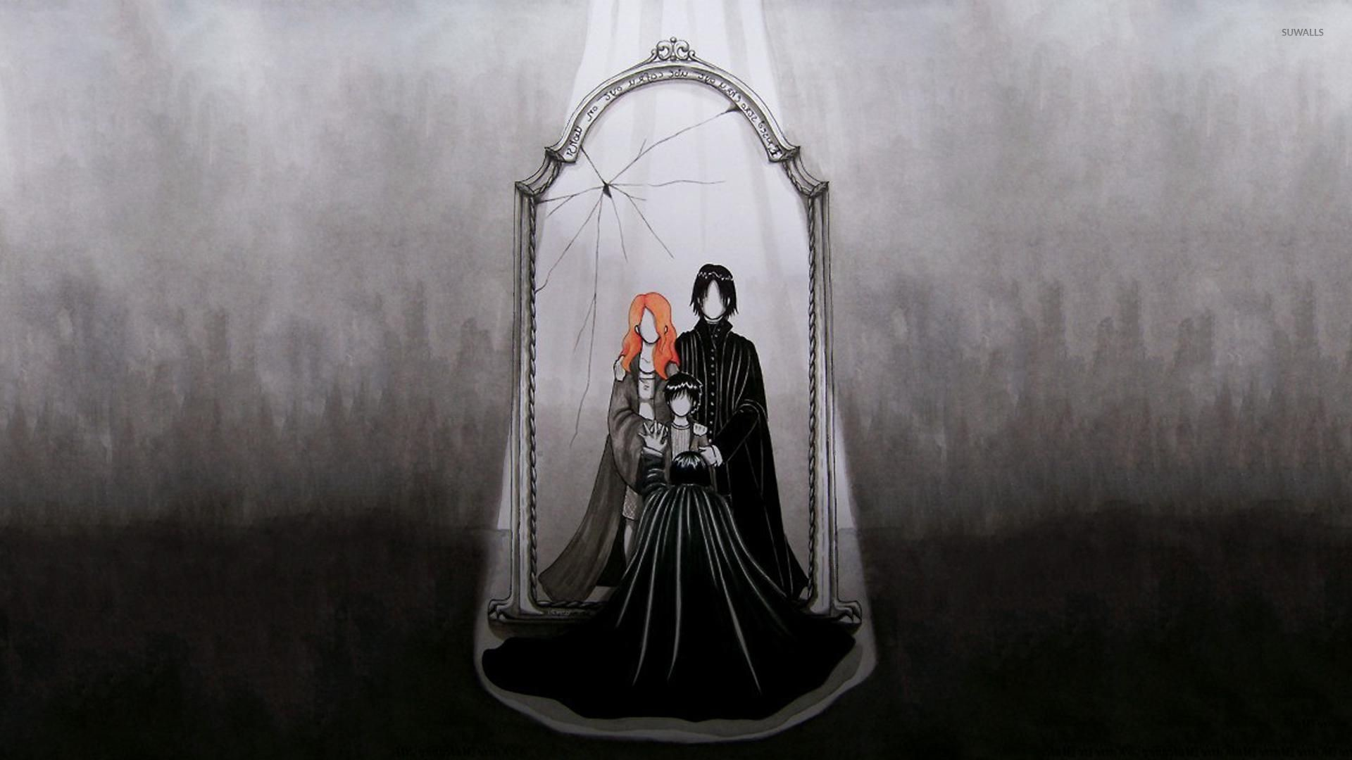 Snape and the Mirror of Erised – Harry Potter wallpaper jpg